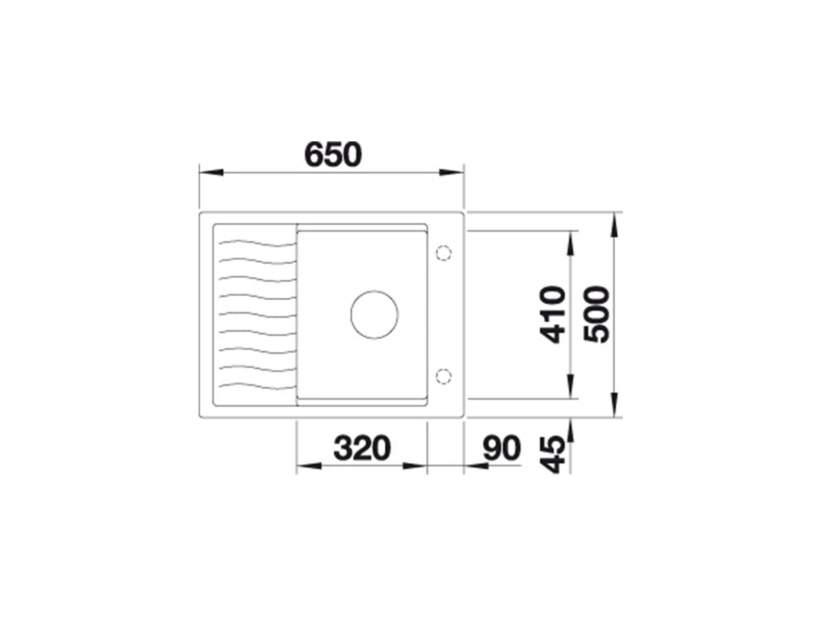 Blanco Elon 45 S Muskat - 521 861 Granitspüle