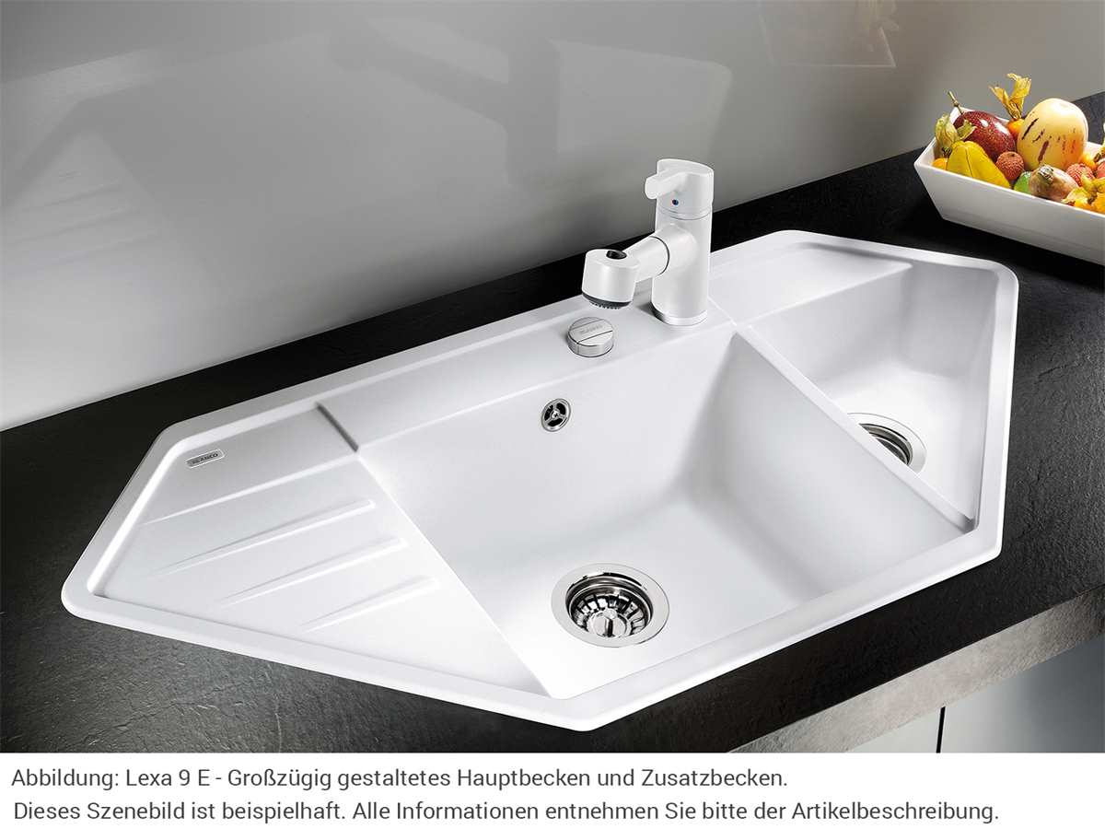 Blanco Lexa 9 E Muskat - 521 879 Granitspüle