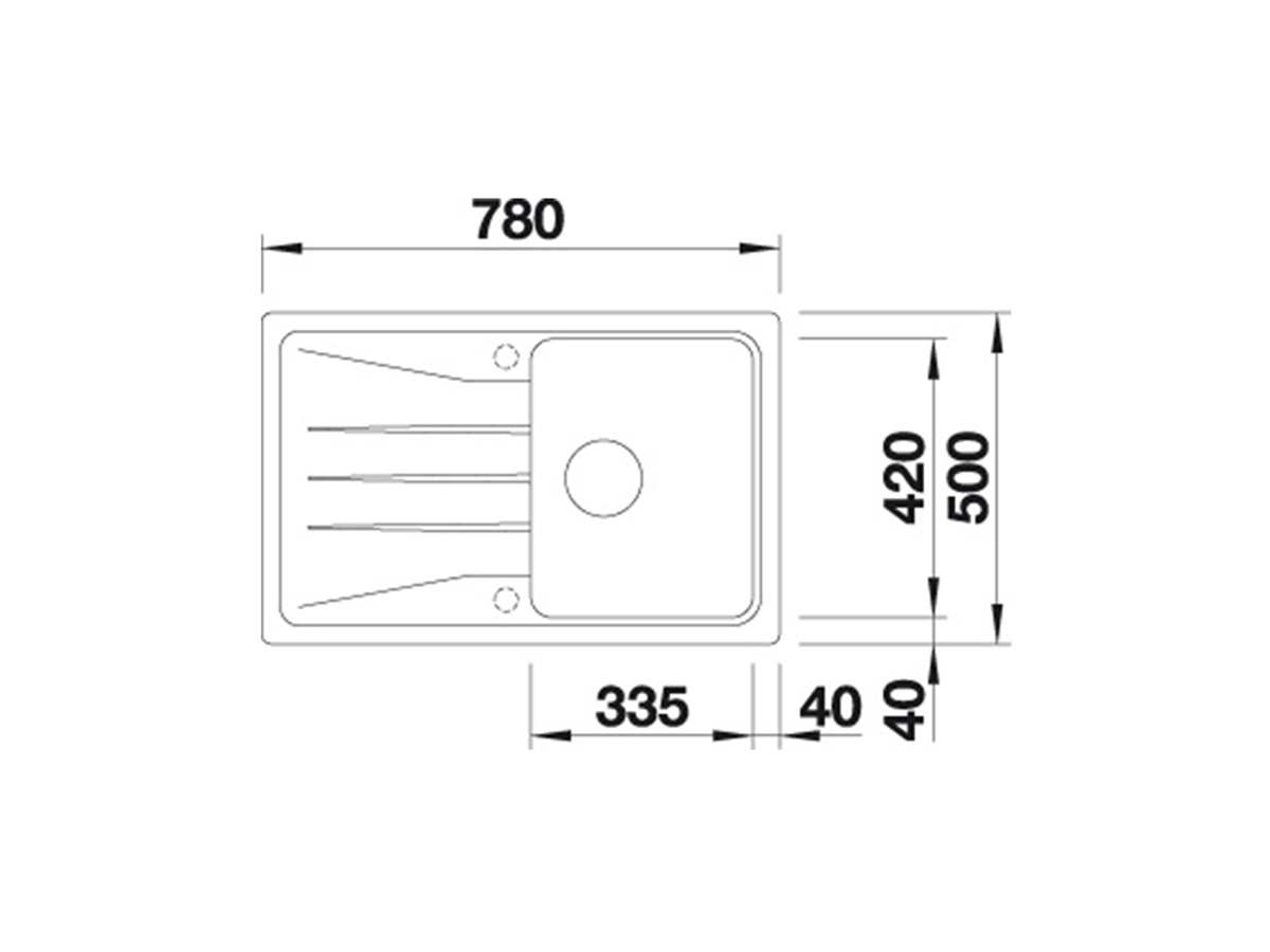 Blanco Sona 45 S Muskat - 521 921 Granitspüle