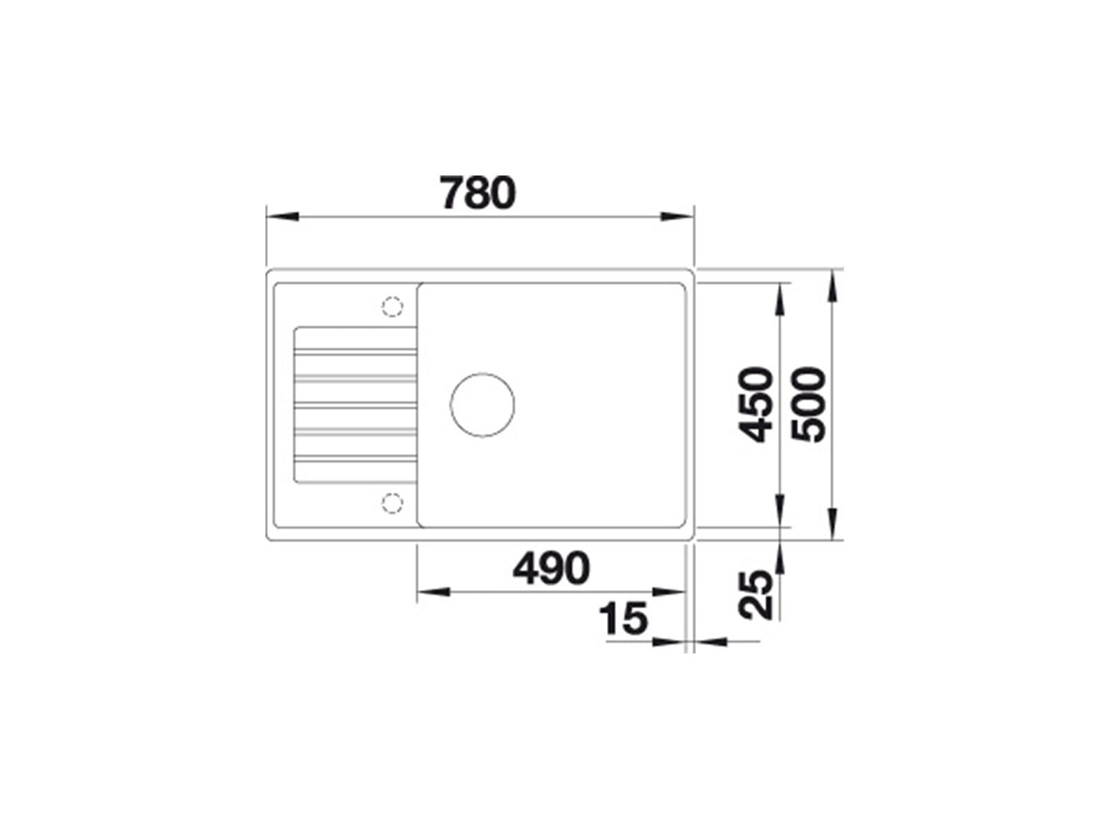 Blanco Zia XL 6 S Compact Muskat - 523 271 Granitspüle