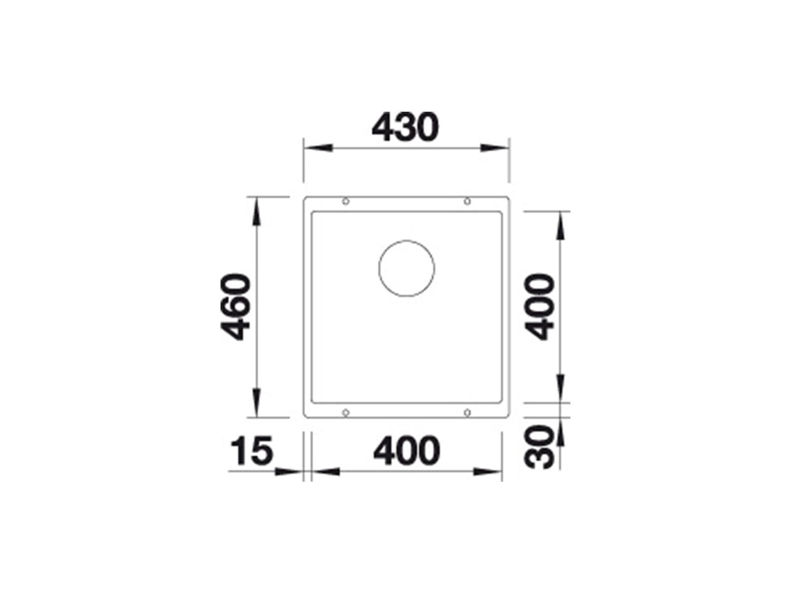 Blanco Subline 400-U Muskat- 523 430 Granitspüle