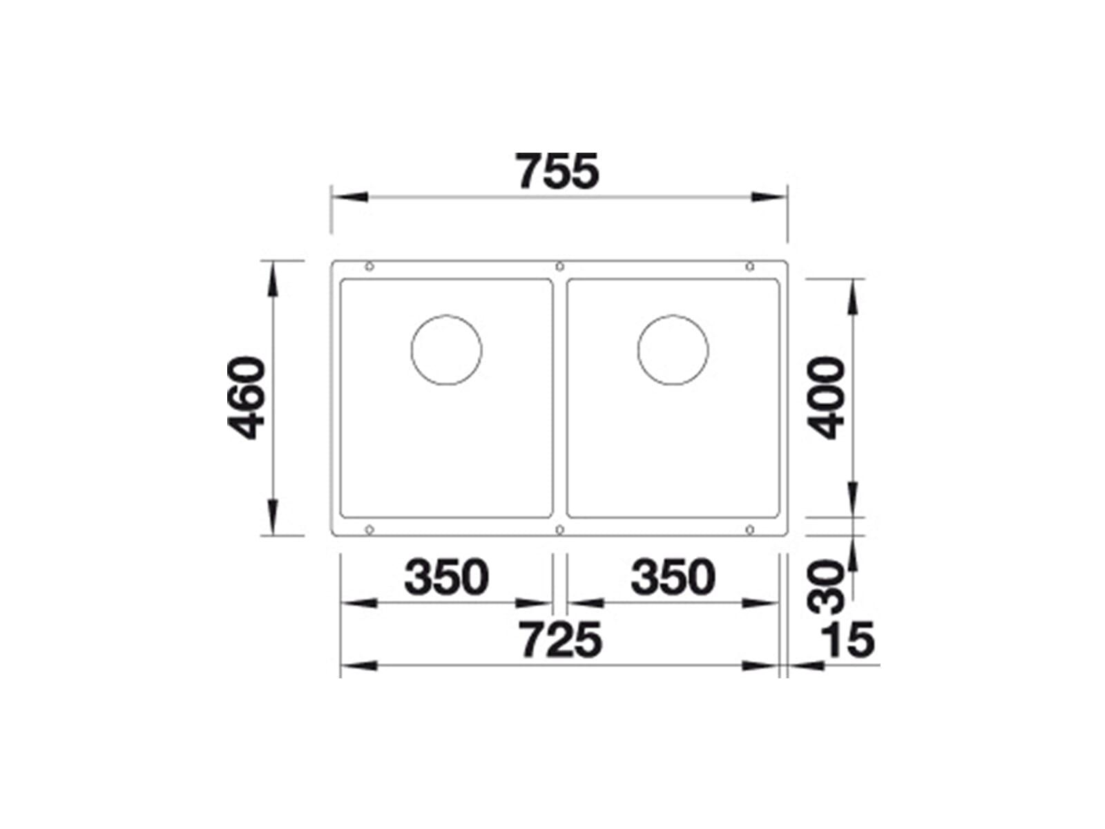 Blanco Subline 350/350-U Muskat - 523 582 Granitspüle