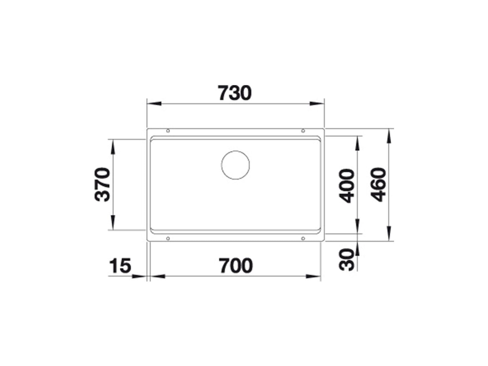 Blanco Etagon 700-U Muskat- 525 175 Granitspüle