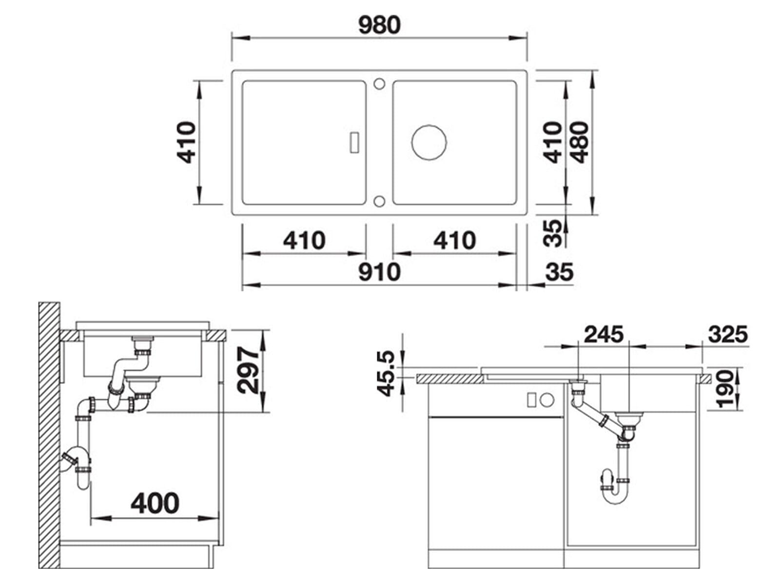 Blanco Adon XL 6 S Cafe - 523 613 Granitspüle