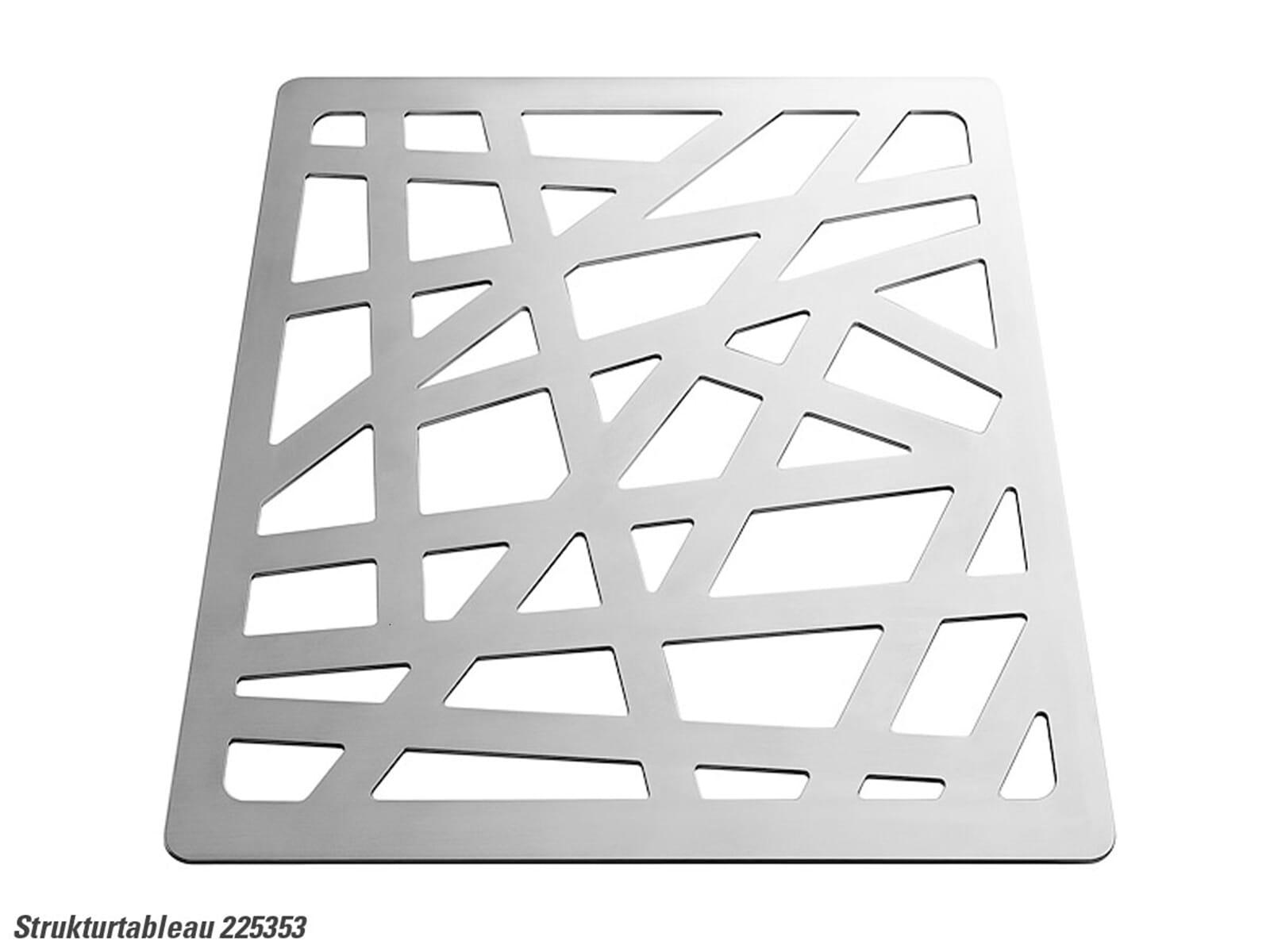Blanco 225 353 Strukturtableau Edelstahl