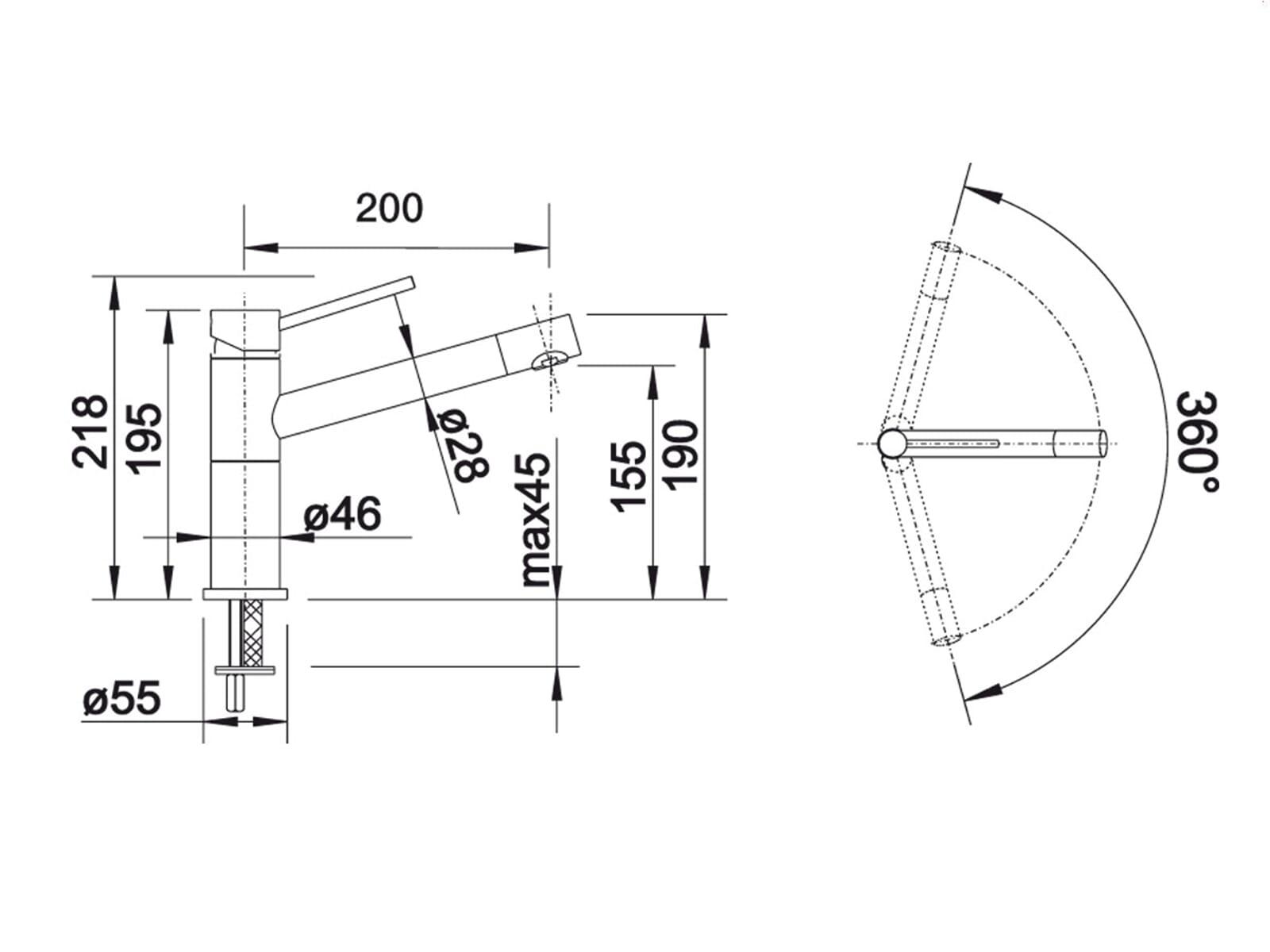 blanco alta compact hochdruckarmatur