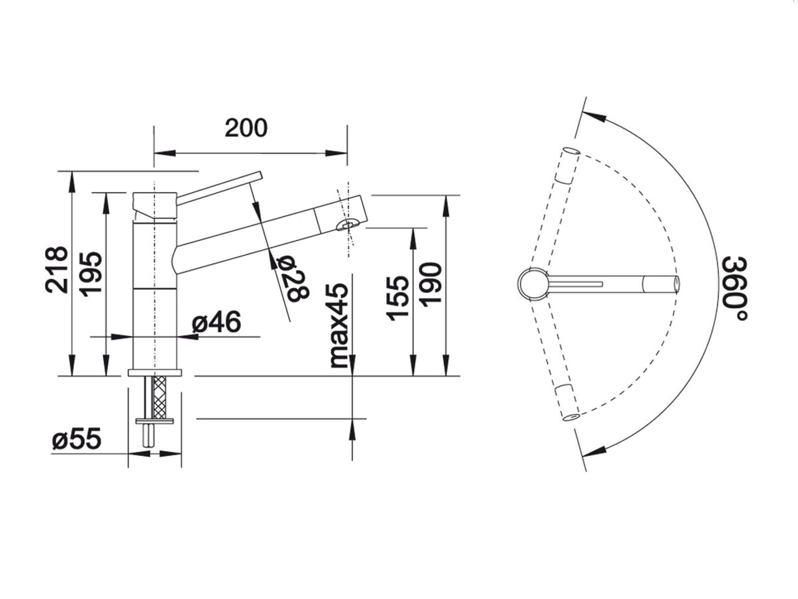 Blanco Alta-F Compact Chrom Hochdruckarmatur