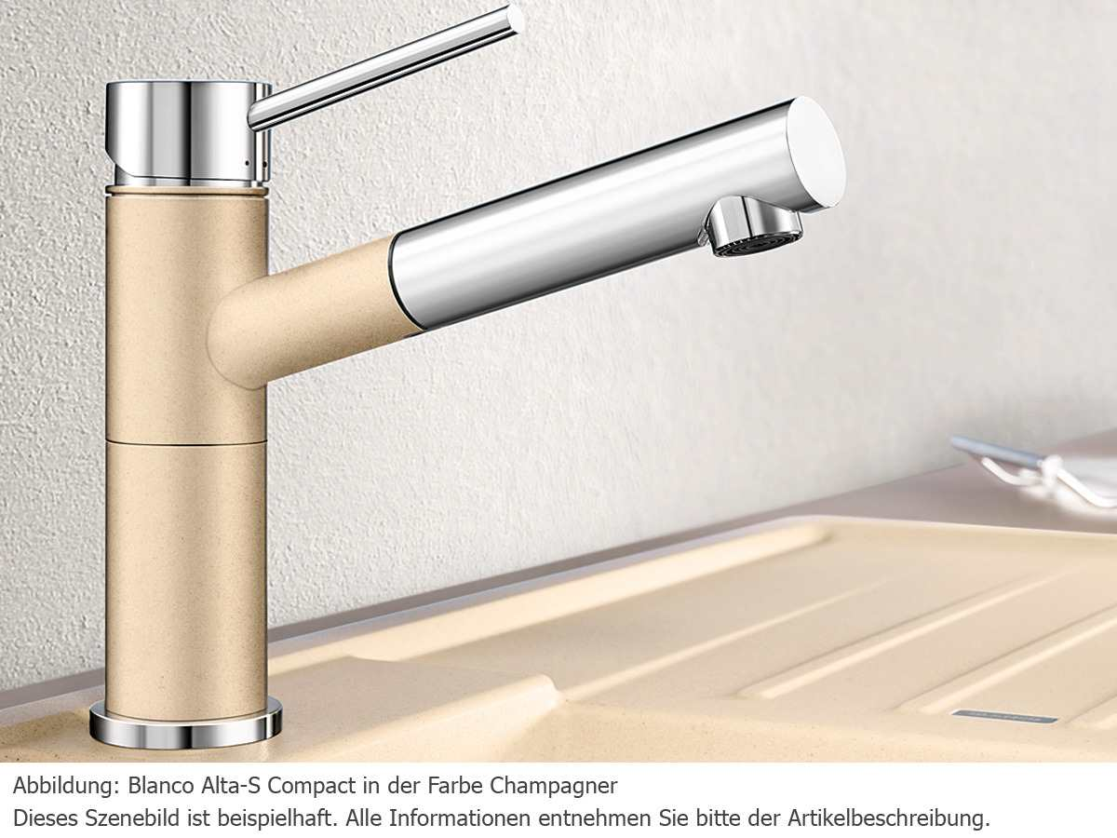 Blanco Alta-S Compact Alumetallic Hochdruckarmatur