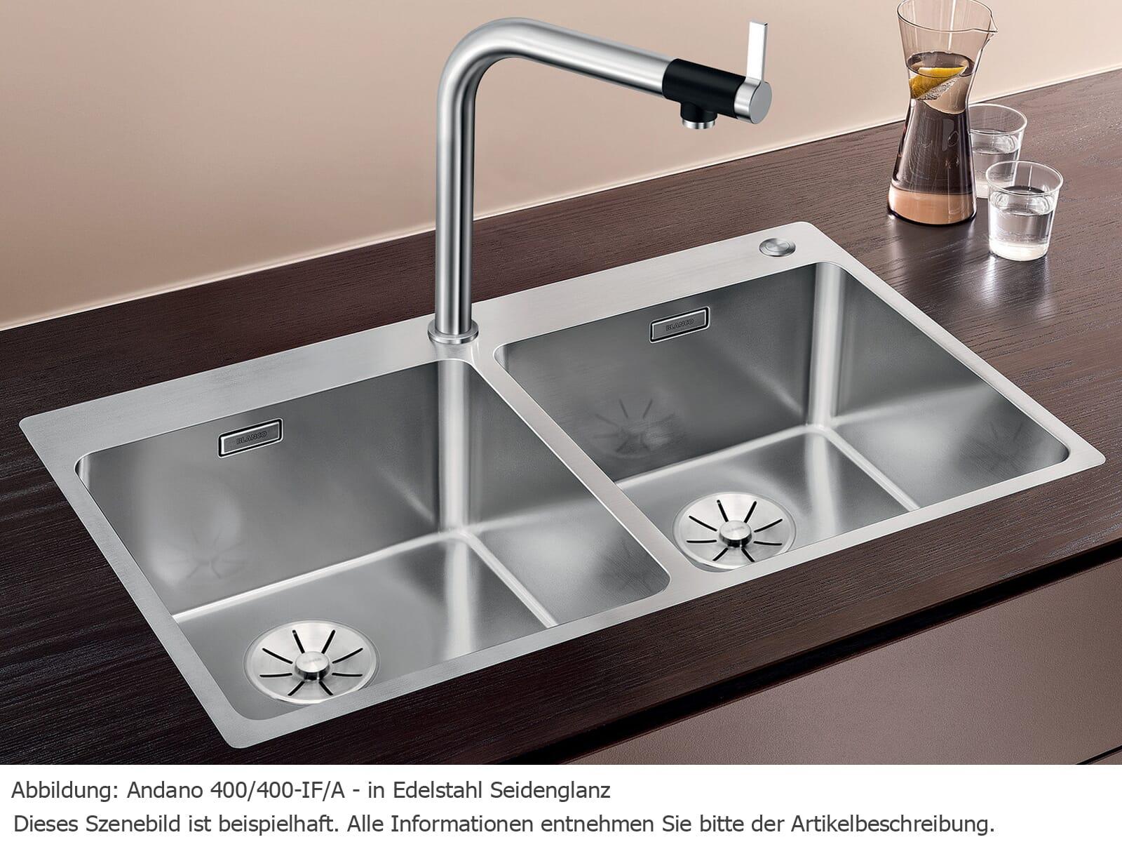 Blanco Andano 400/400-IF/A Edelstahlspüle Seidenglanz 525 249