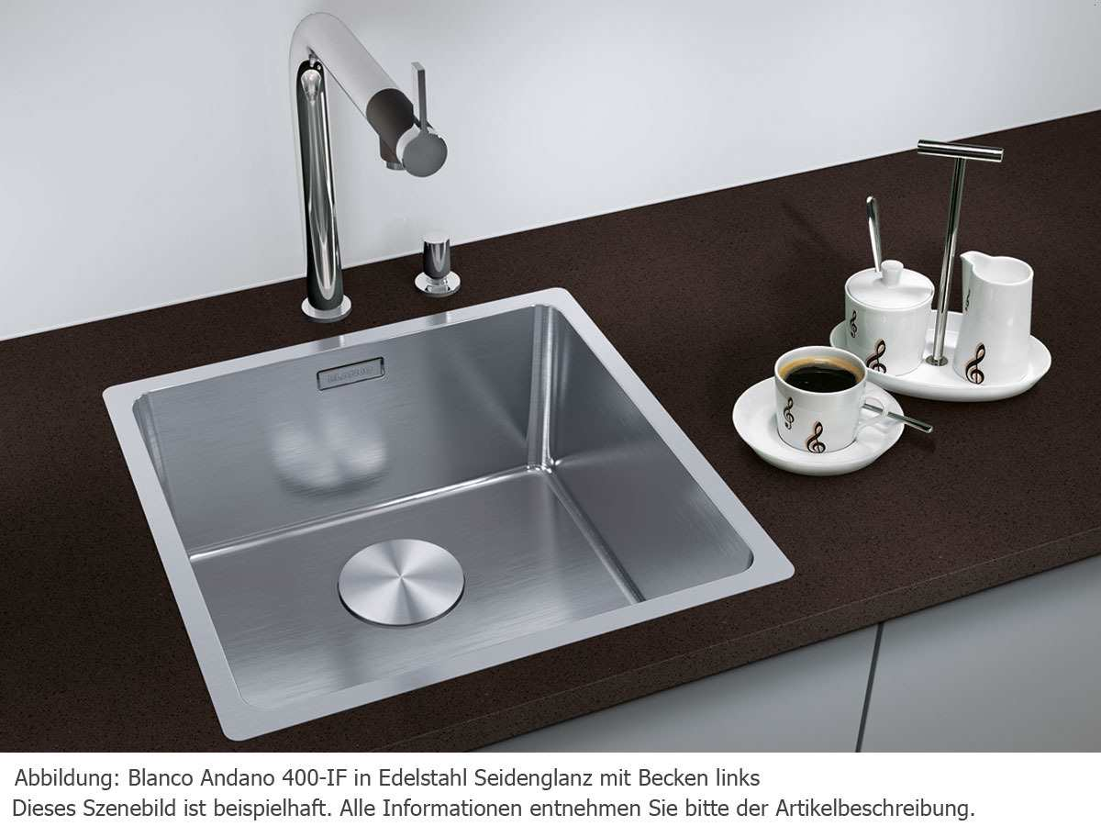 blanco andano 400 if edelstahlsp le seidenglanz. Black Bedroom Furniture Sets. Home Design Ideas
