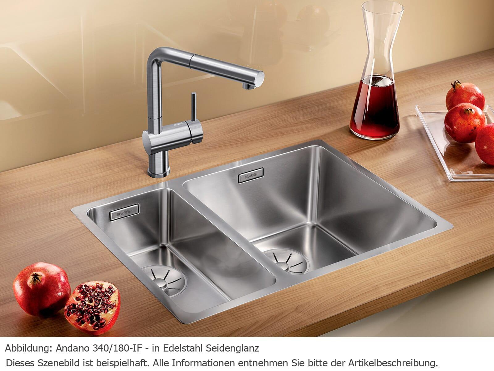 Blanco Andano 340/180-IF Edelstahlspüle Seidenglanz 522 973