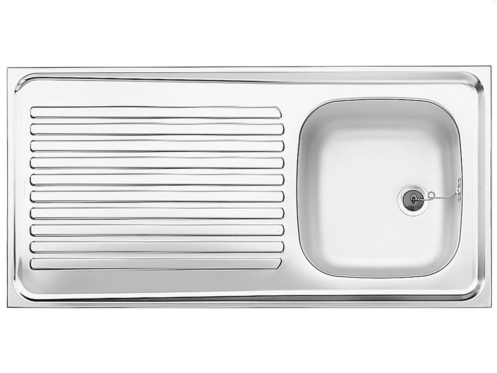 Blanco Auflagespüle R-ES 10 x 5 Edelstahlspüle Naturfinish Set