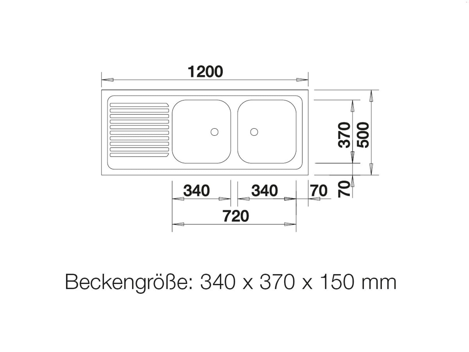 Blanco Auflagespüle ZS 12 x 5-2 Edelstahlspüle Naturfinish Set