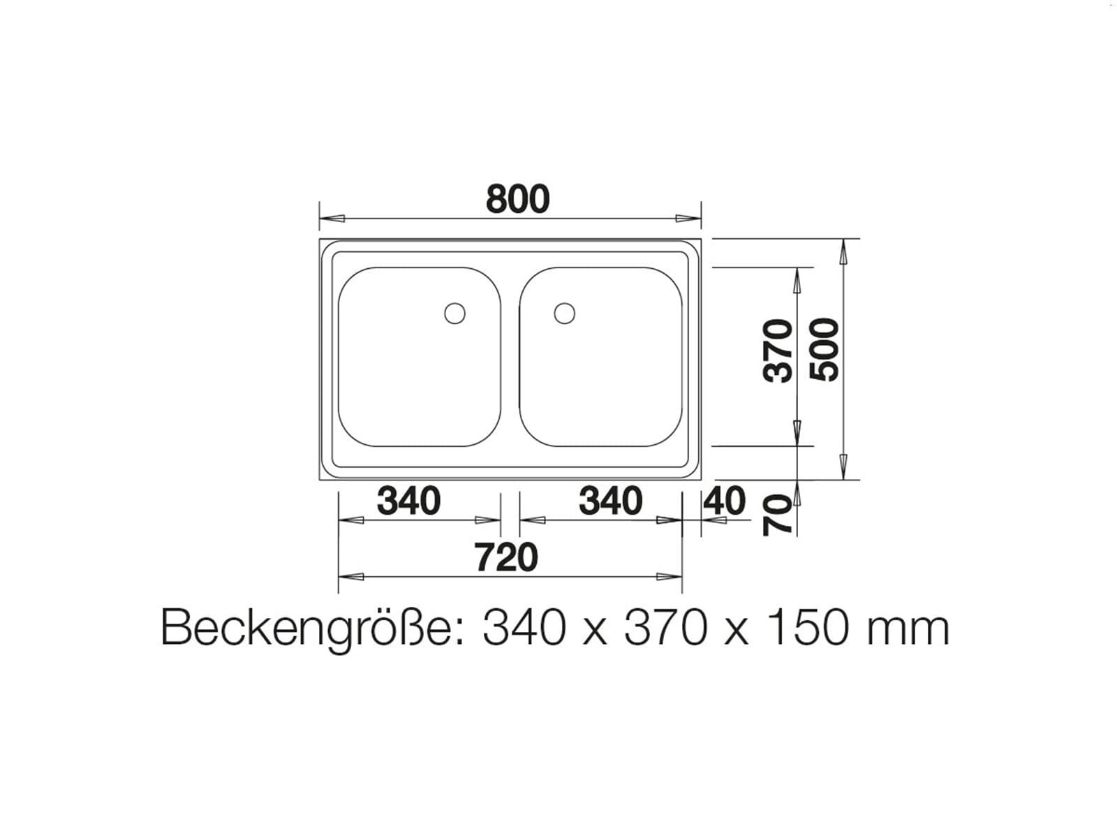 Blanco Auflagespüle Z 8 x 5 Edelstahlspüle Naturfinish Set