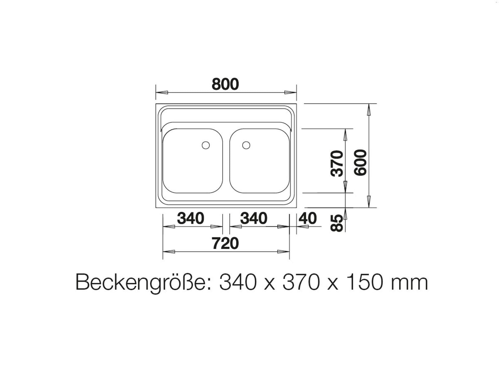 Blanco Auflagespüle Z 8 x 6 Edelstahlspüle Naturfinish Set