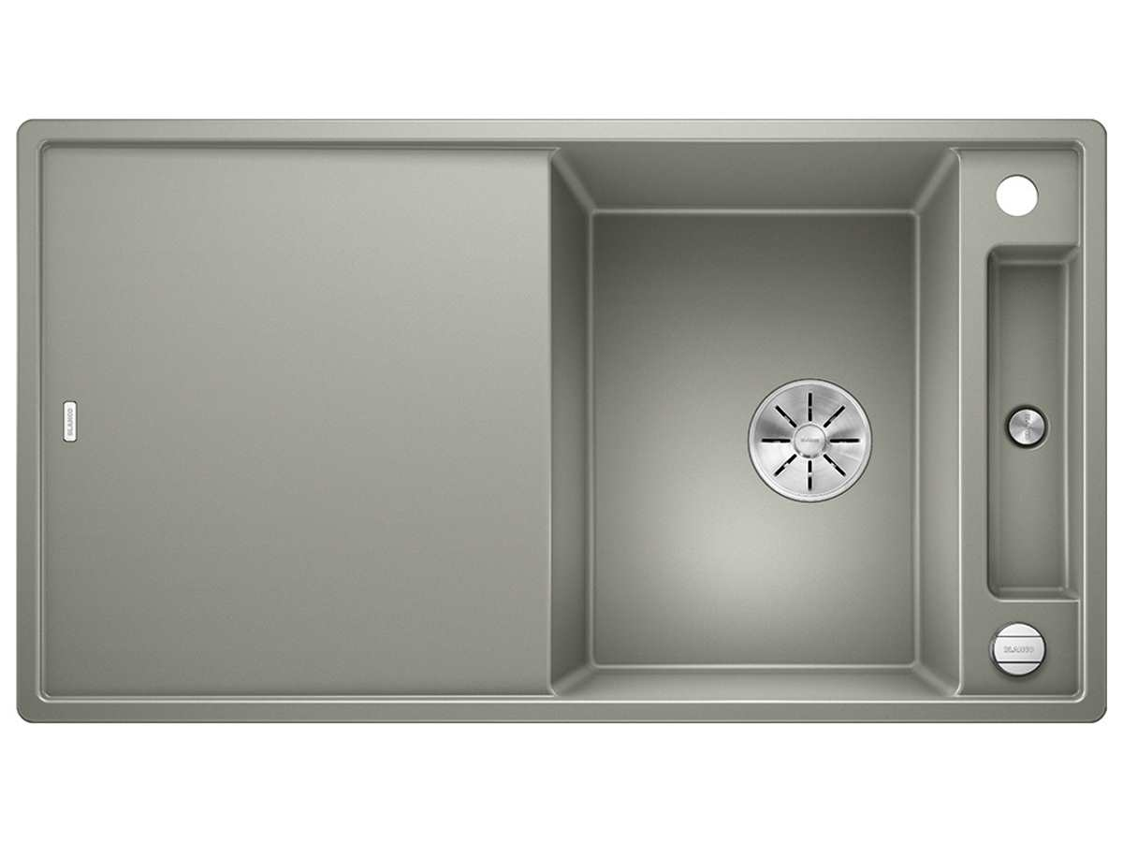 blanco axia iii 5 s perlgrau 523 208 granitsp le mit. Black Bedroom Furniture Sets. Home Design Ideas