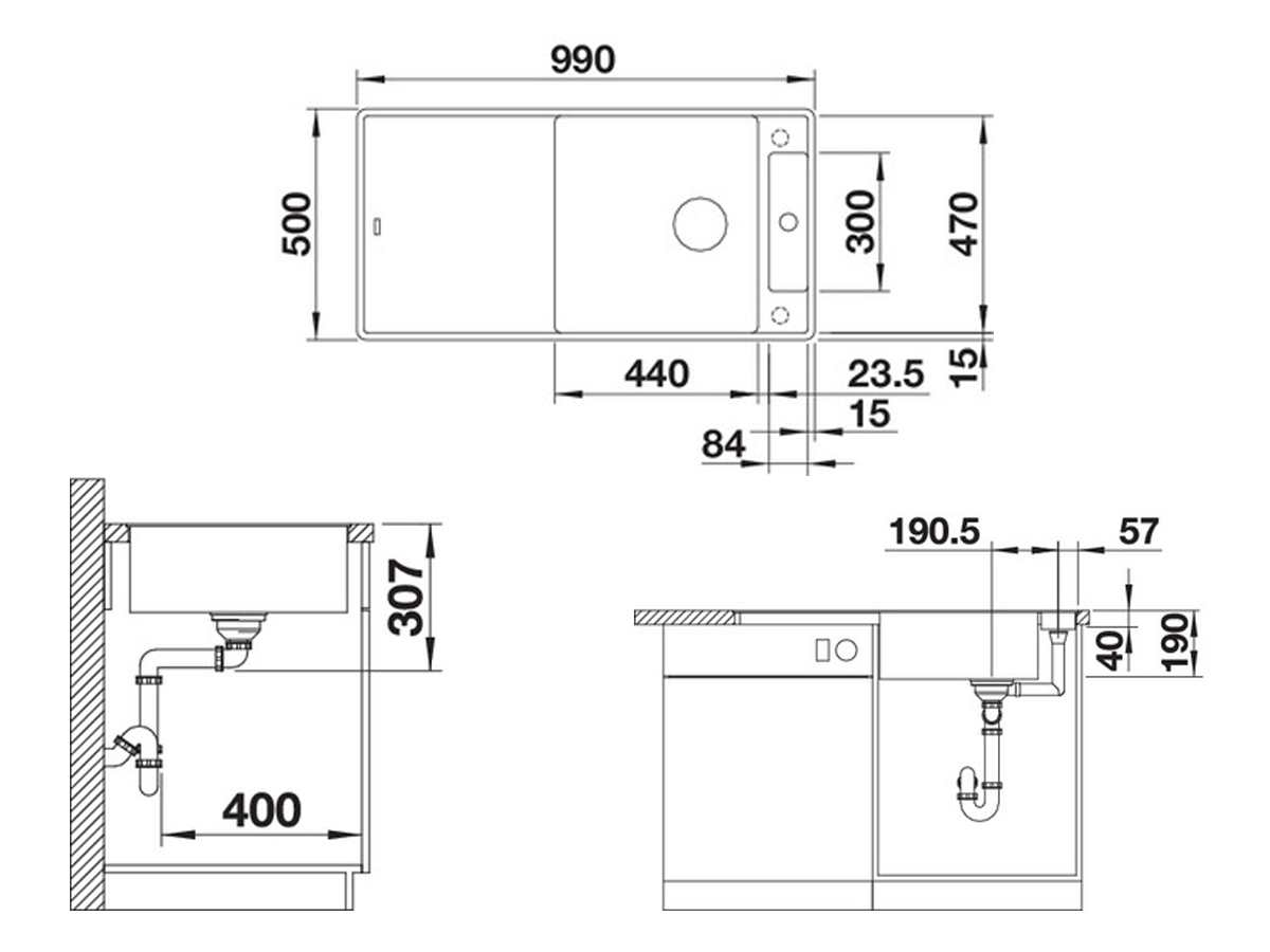 Blanco Axia III XL 6 S-F Cafe - 523 525 Granitspüle