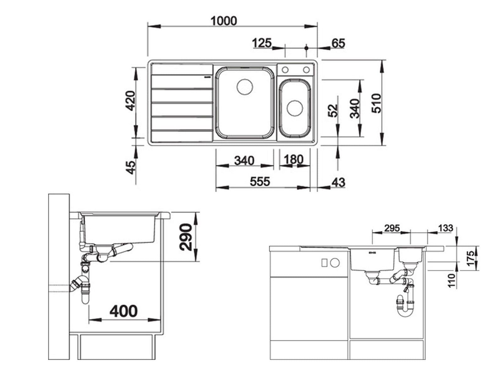 Blanco Axis III 6 S-IF Edelstahlspüle Seidenglanz 522 104