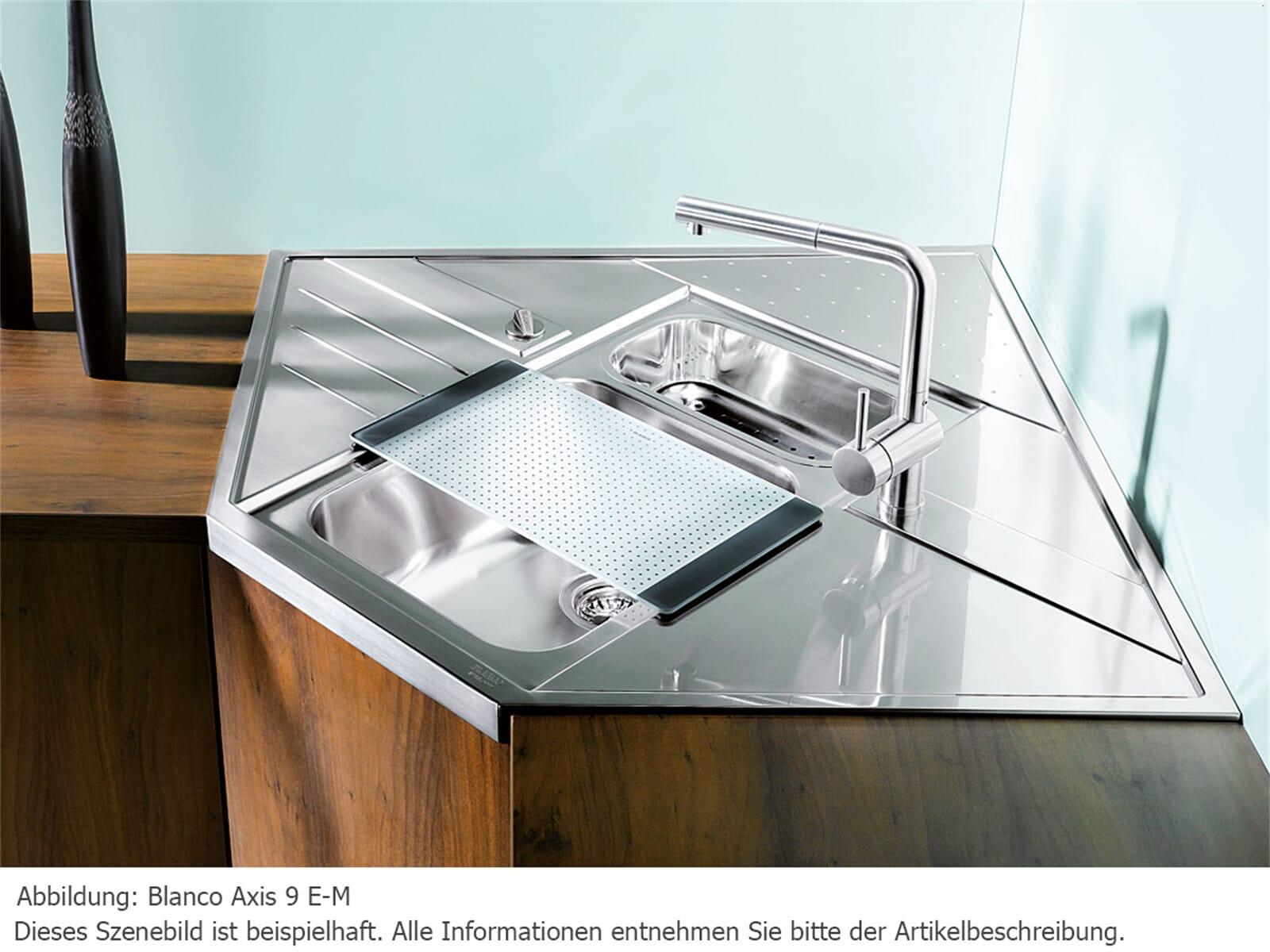 Blanco Axis 9 E-M Edelstahlspüle Seidenglanz
