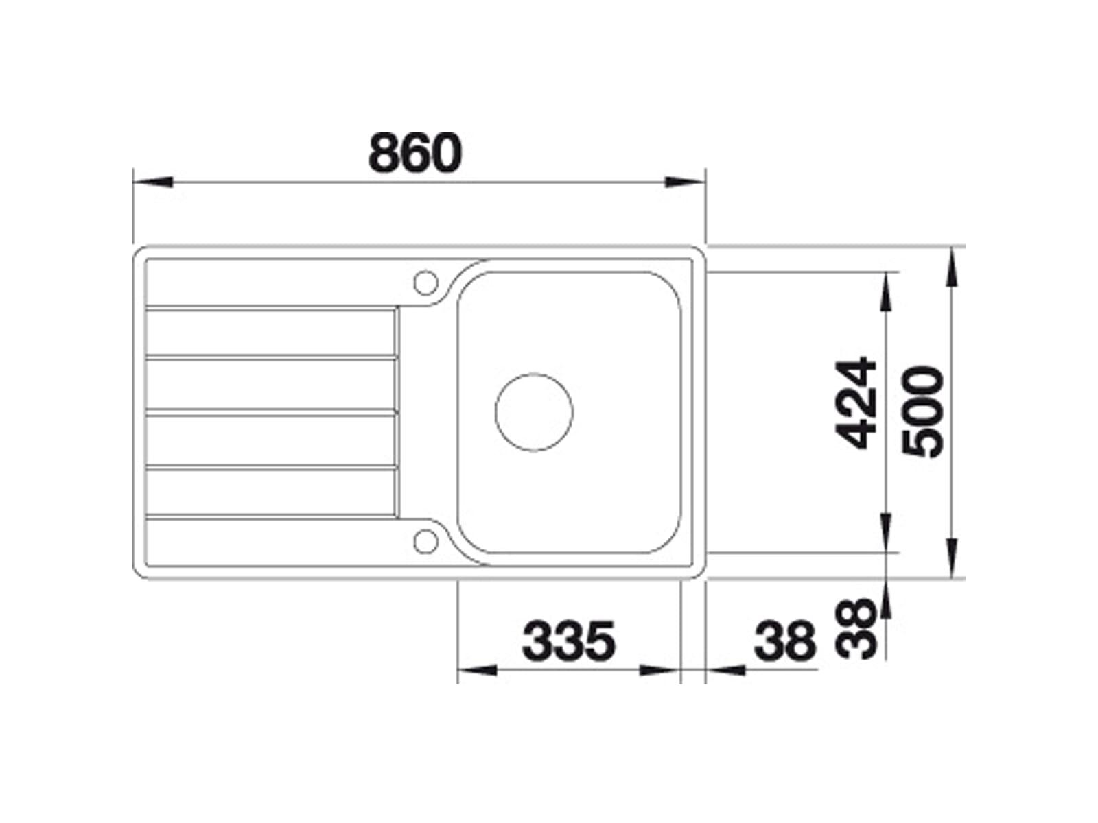 Blanco Classimo 45 S-IF Edelstahlspüle Bürstfinish 525 330