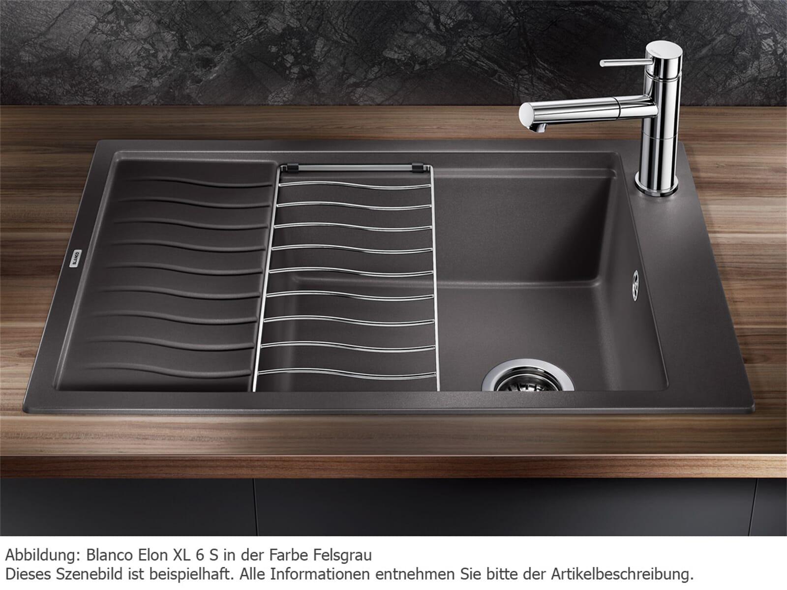 blanco elon xl 6 s tartufo granitsp le. Black Bedroom Furniture Sets. Home Design Ideas