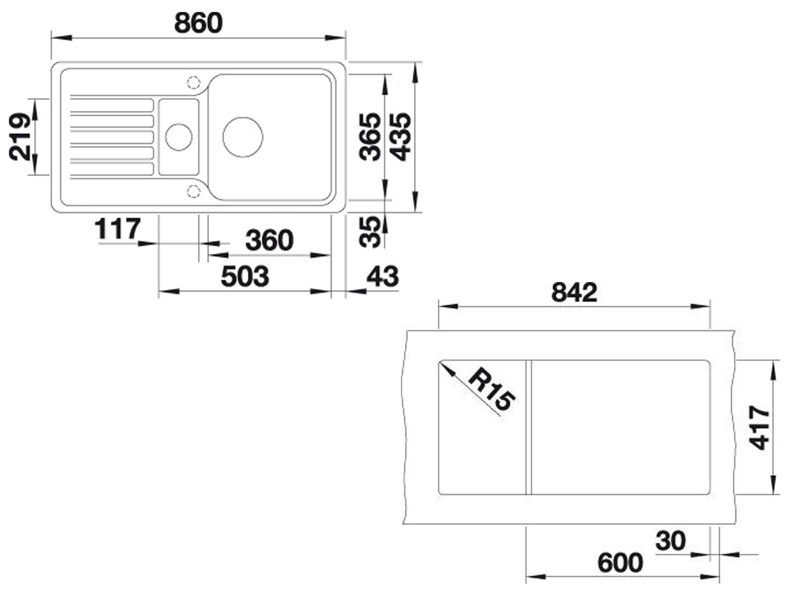 Blanco Favos 6 S Alumetallic - 519 076 Granitspüle