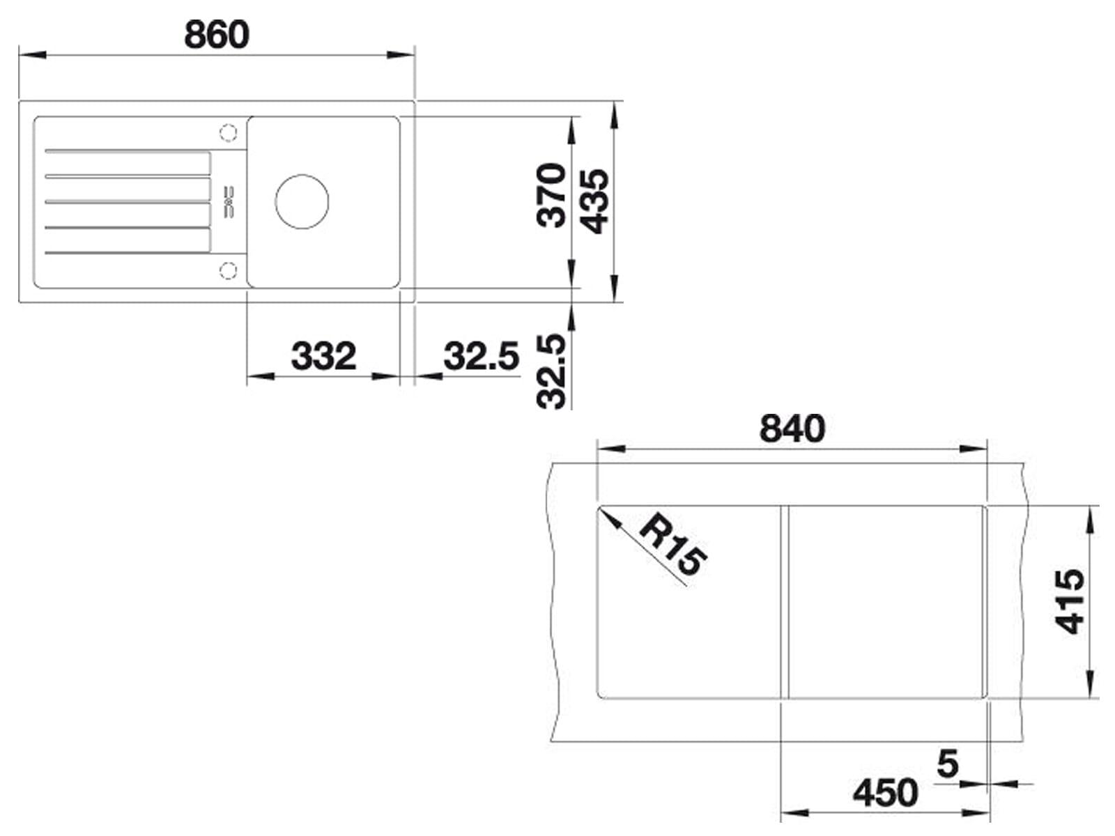 Blanco Favum 45 S Weiß - 524 229 Granitspüle