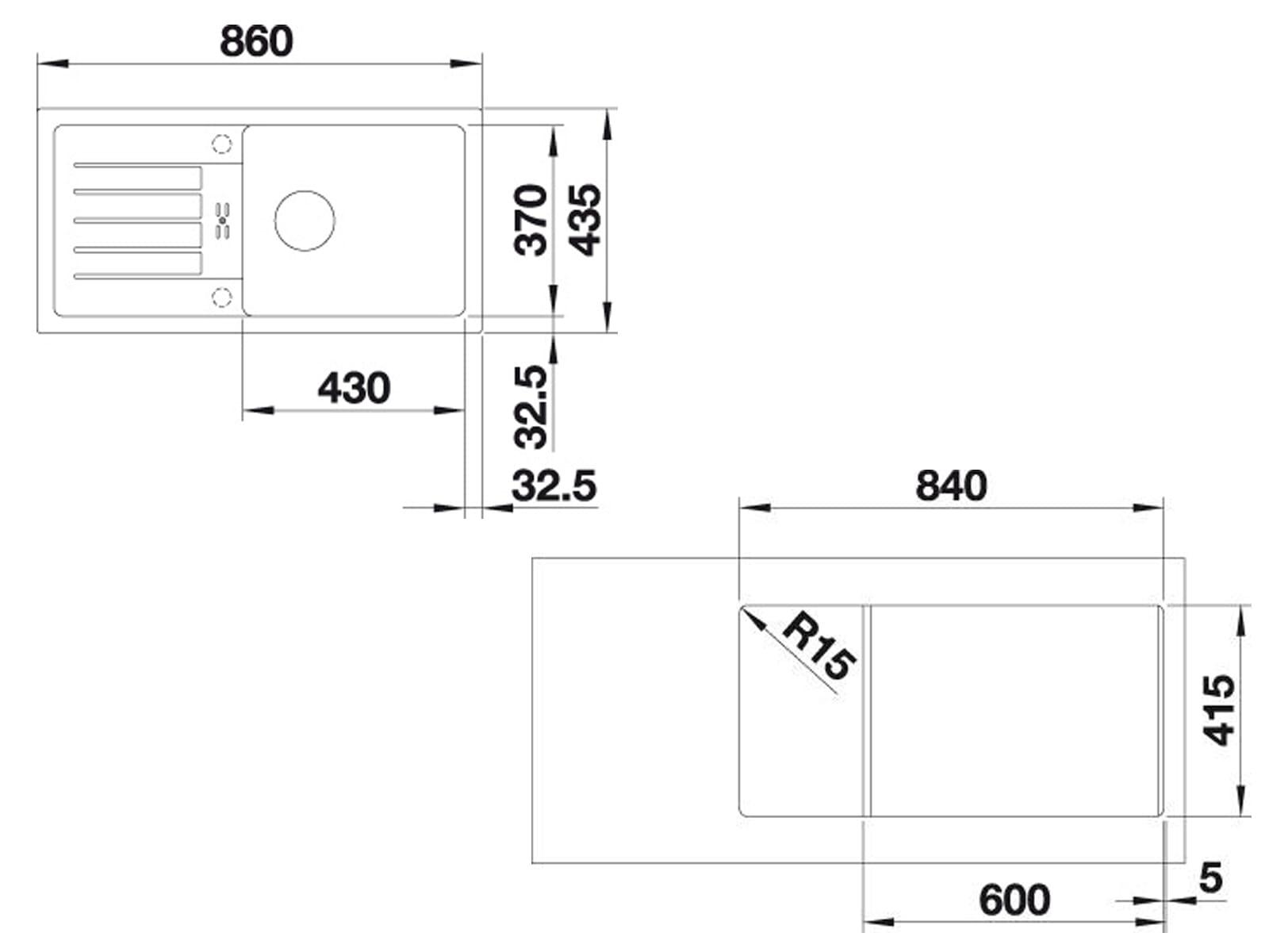 Blanco Favum XL 6 S Alumetallic - 524 234 Granitspüle