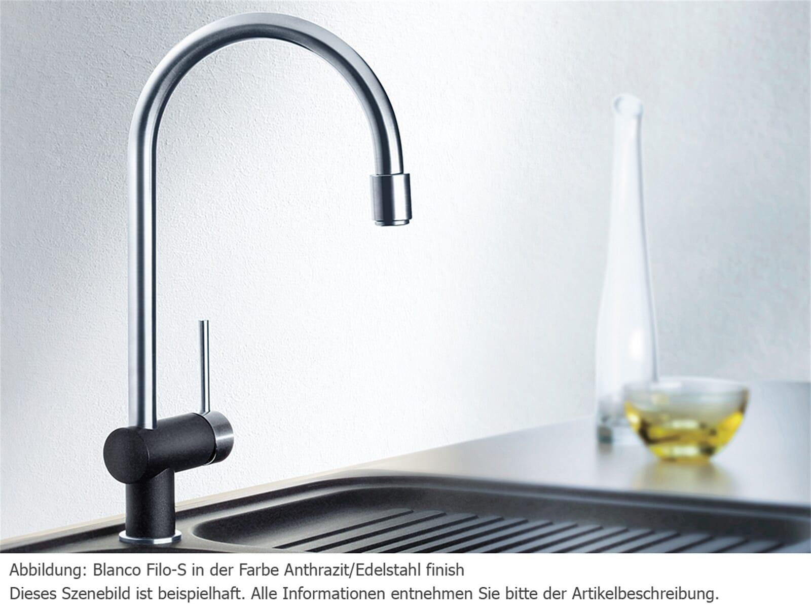 Blanco Filo-S Felsgrau/Chrom Hochdruckarmatur