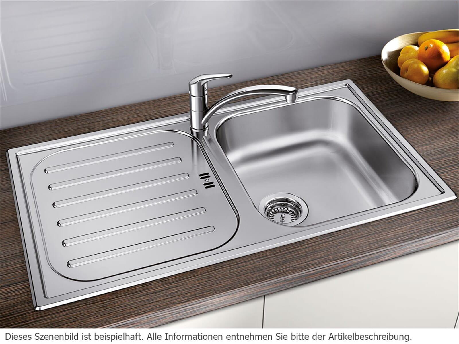 Blanco Flex Pro 45 S Edelstahlspüle Naturfinish