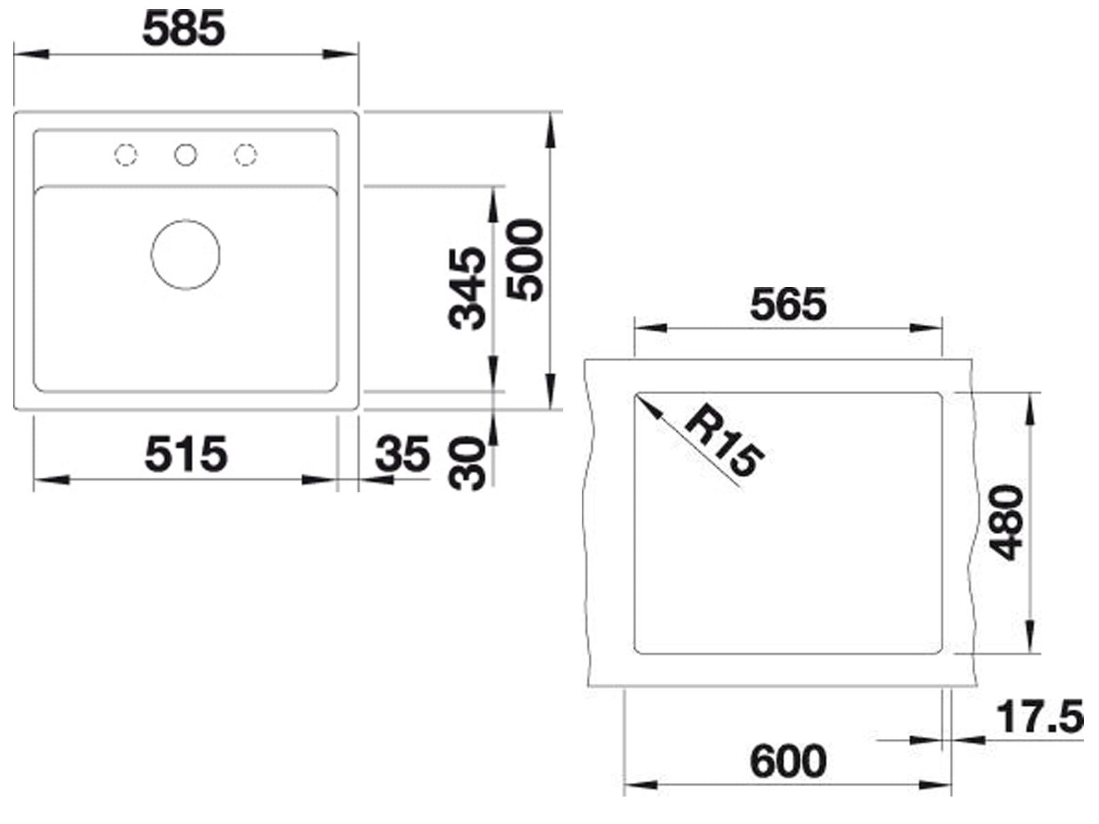 Blanco Legra 6 Jasmin - 523 335 Granitspüle