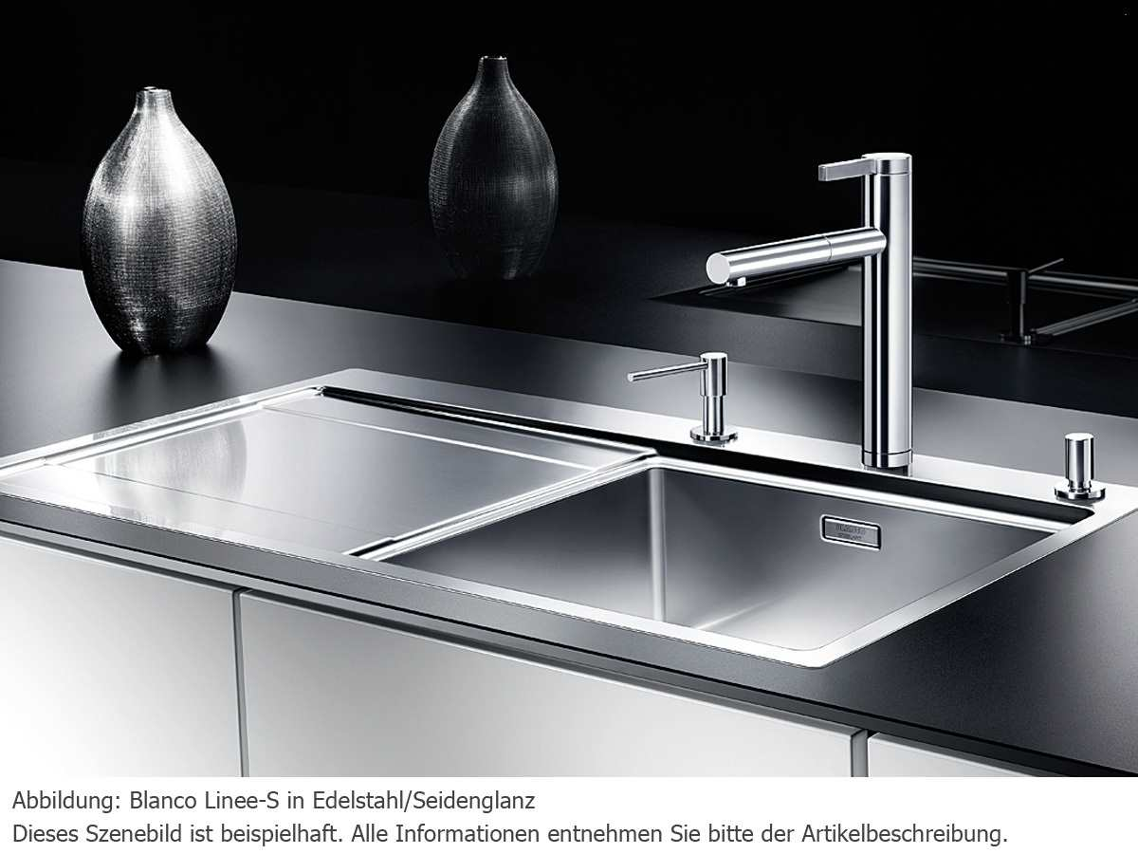 Blanco Linee-S Edelstahl Hochdruckarmatur