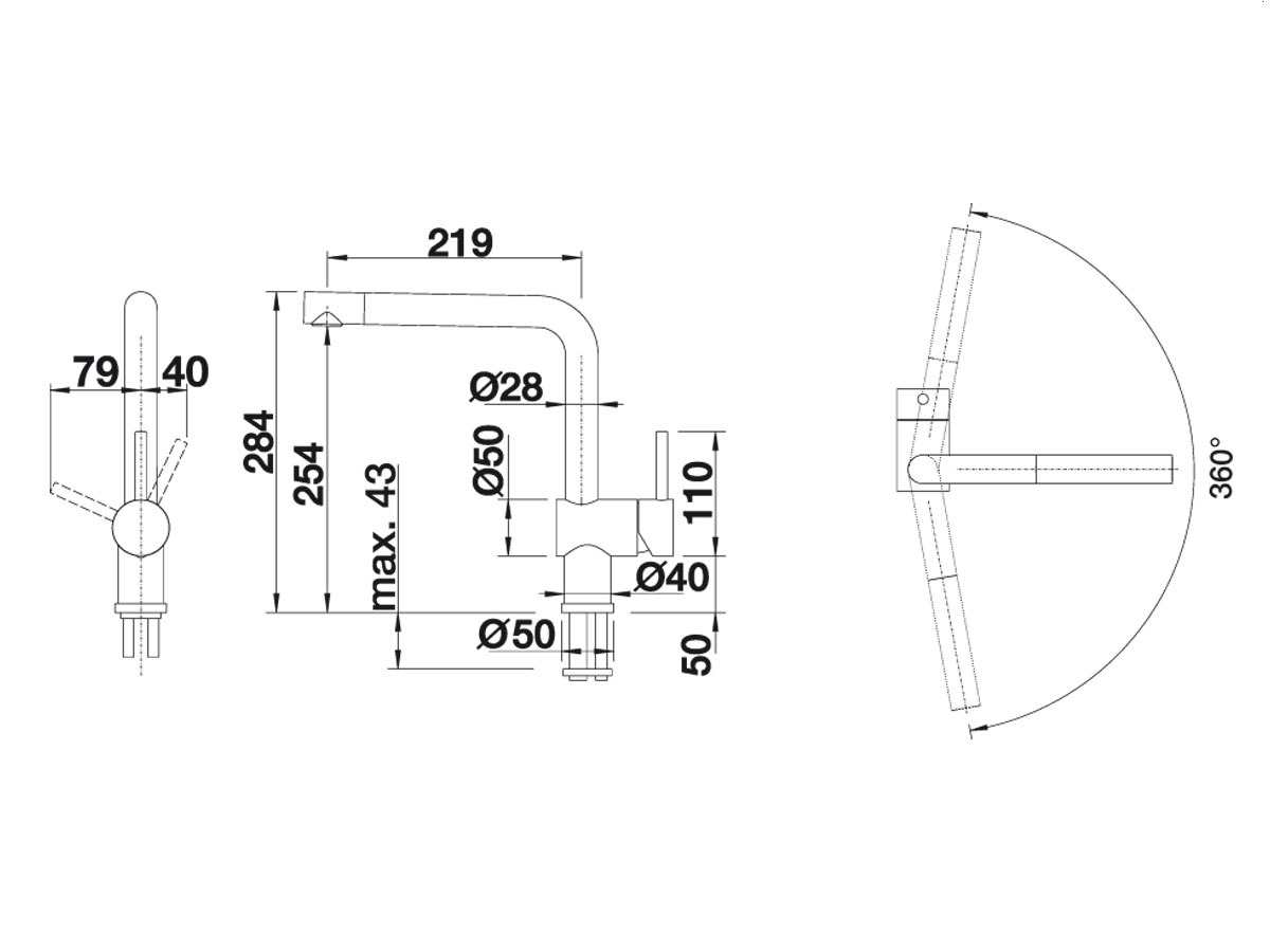 blanco linus f chrom hochdruckarmatur ebay. Black Bedroom Furniture Sets. Home Design Ideas