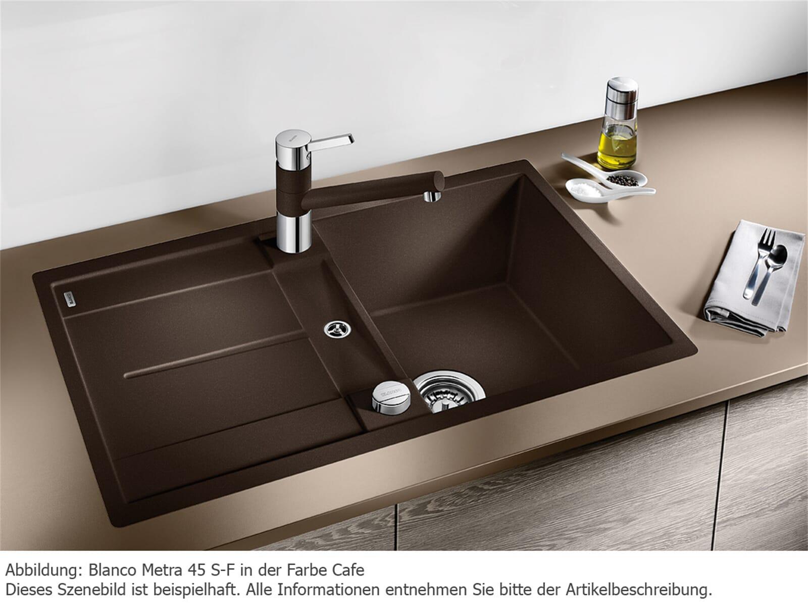 blanco metra 45 s f alumetallic granitsp le. Black Bedroom Furniture Sets. Home Design Ideas