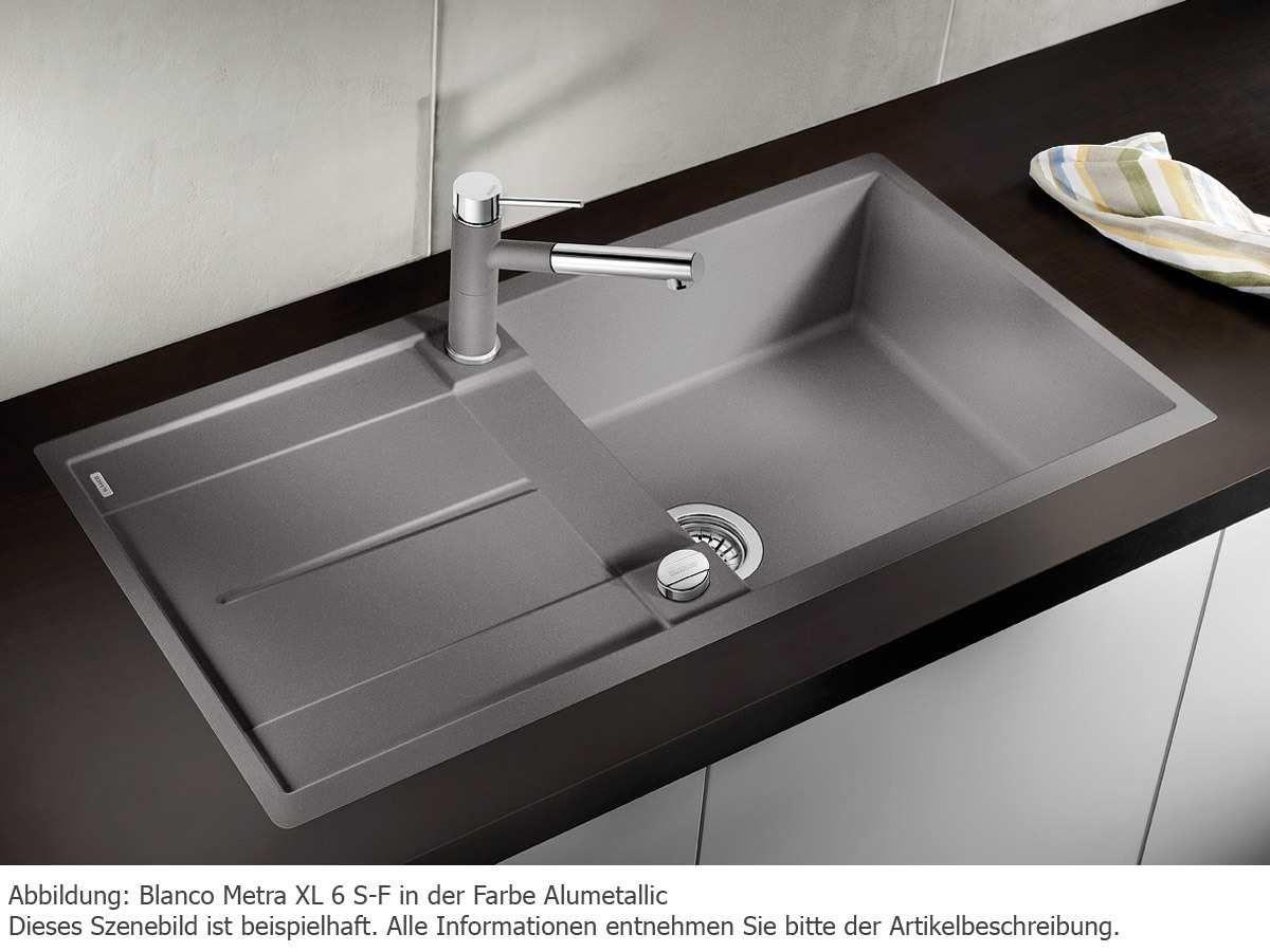 blanco metra xl 6 s f felsgrau granitsp le m hlau bei chemnitz. Black Bedroom Furniture Sets. Home Design Ideas