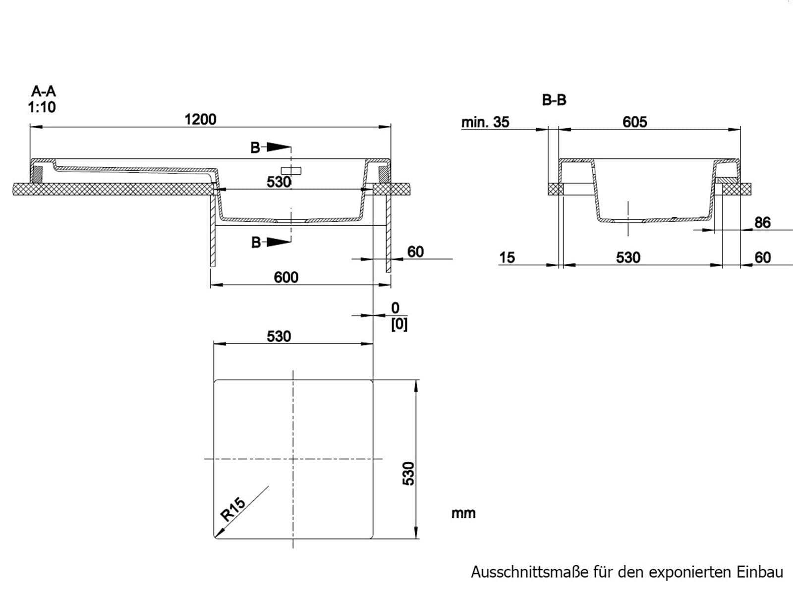 Blanco Modex-M 60 Muskat - 523 654 Granitspüle