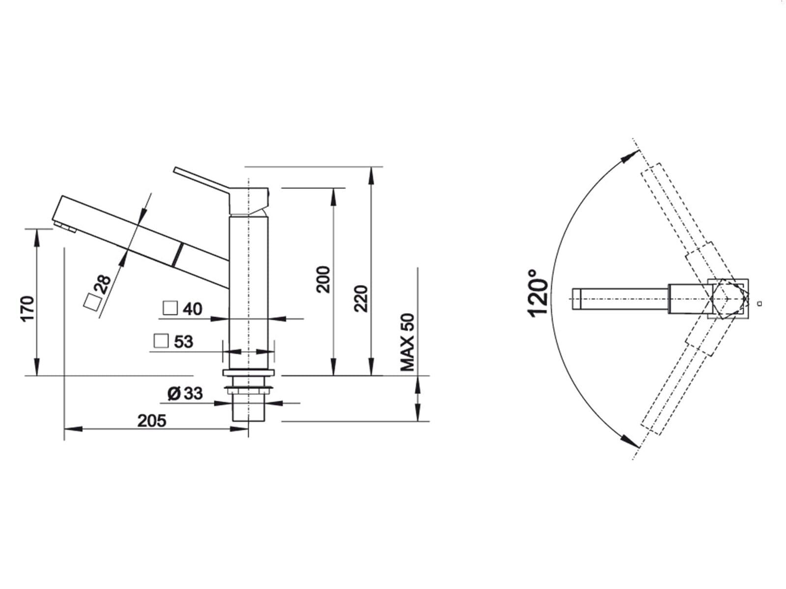 Blanco Quadris-S Edelstahl Hochdruckarmatur