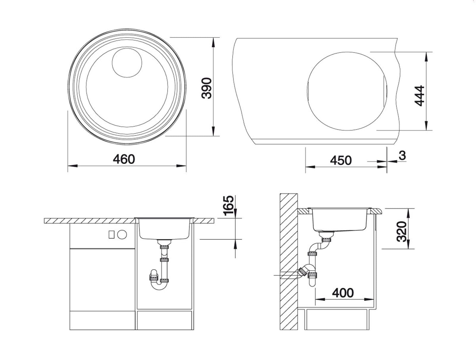 blanco rondosol edelstahlsp le b rstfinish. Black Bedroom Furniture Sets. Home Design Ideas