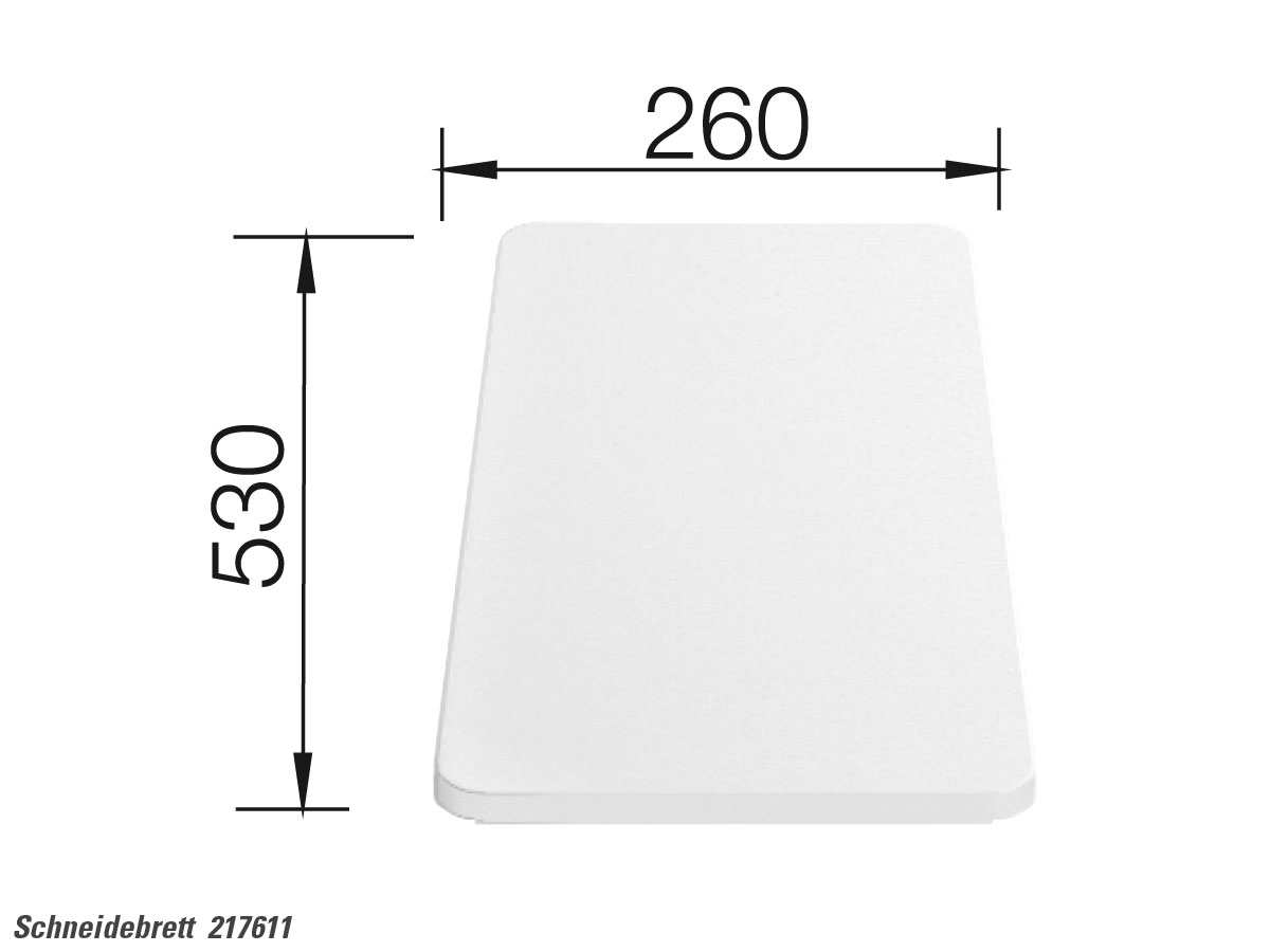 Blanco 217 611 Kunststoffschneidebrett