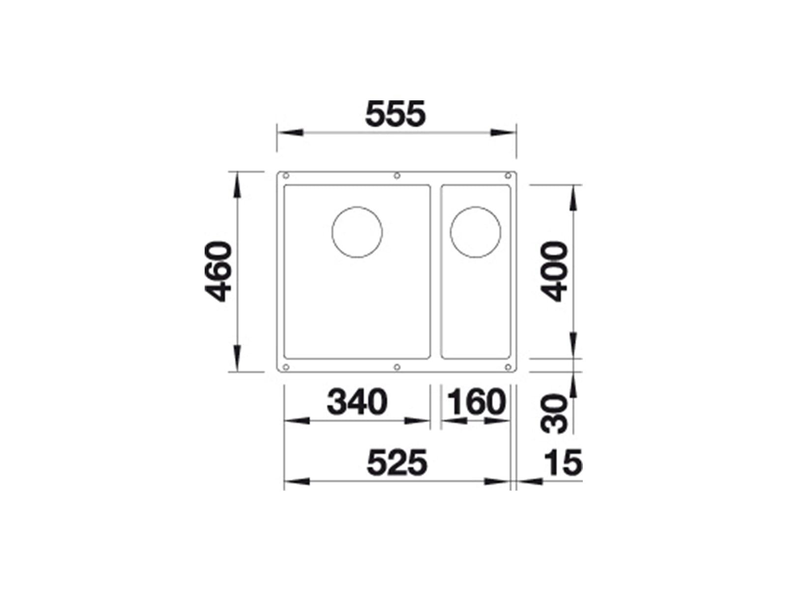 Blanco Subline 340/160-U Muskat - 523 566 Granitspüle
