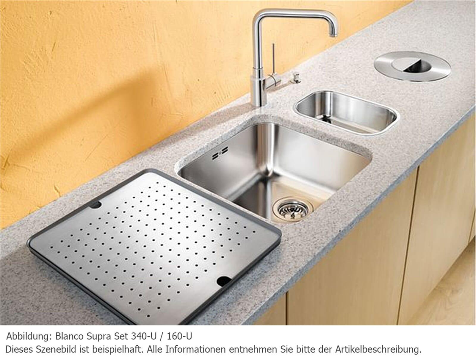 Blanco Supra Set 340-U/160-U Edelstahlspülen Seidenglanz