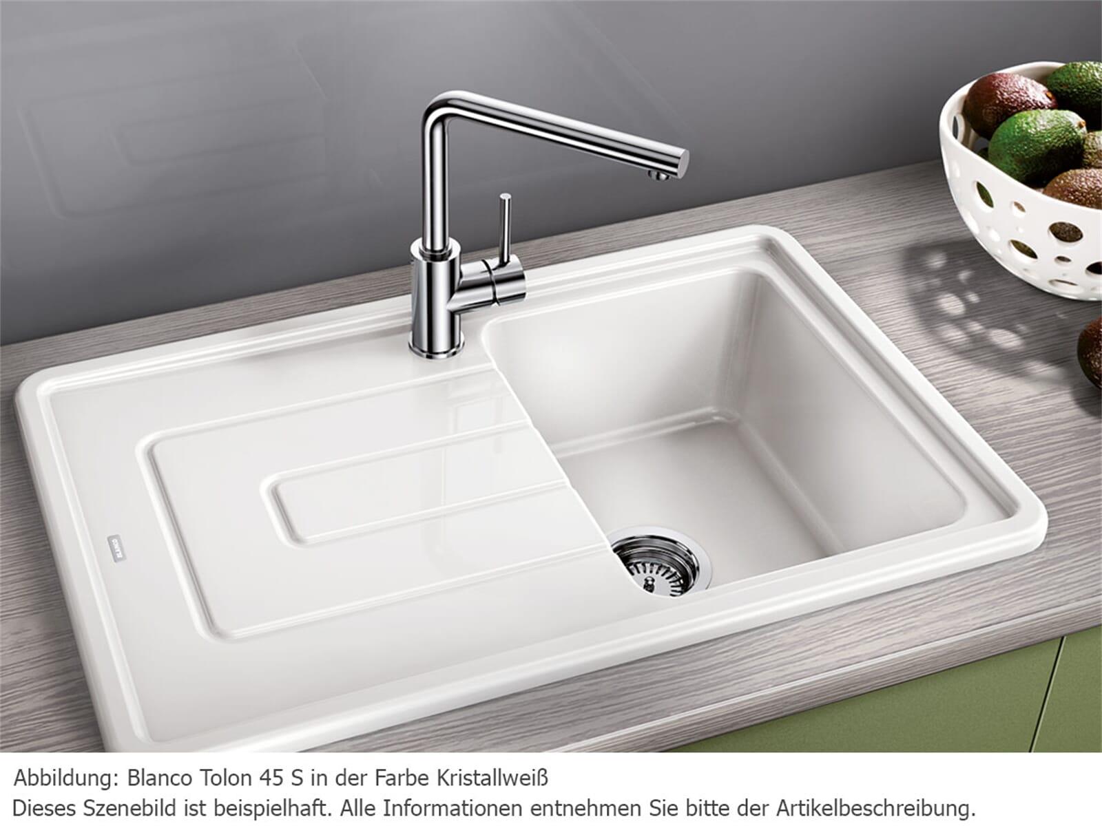 Blanco Tolon 45 S Kristallweiß Glänzend Keramikspüle