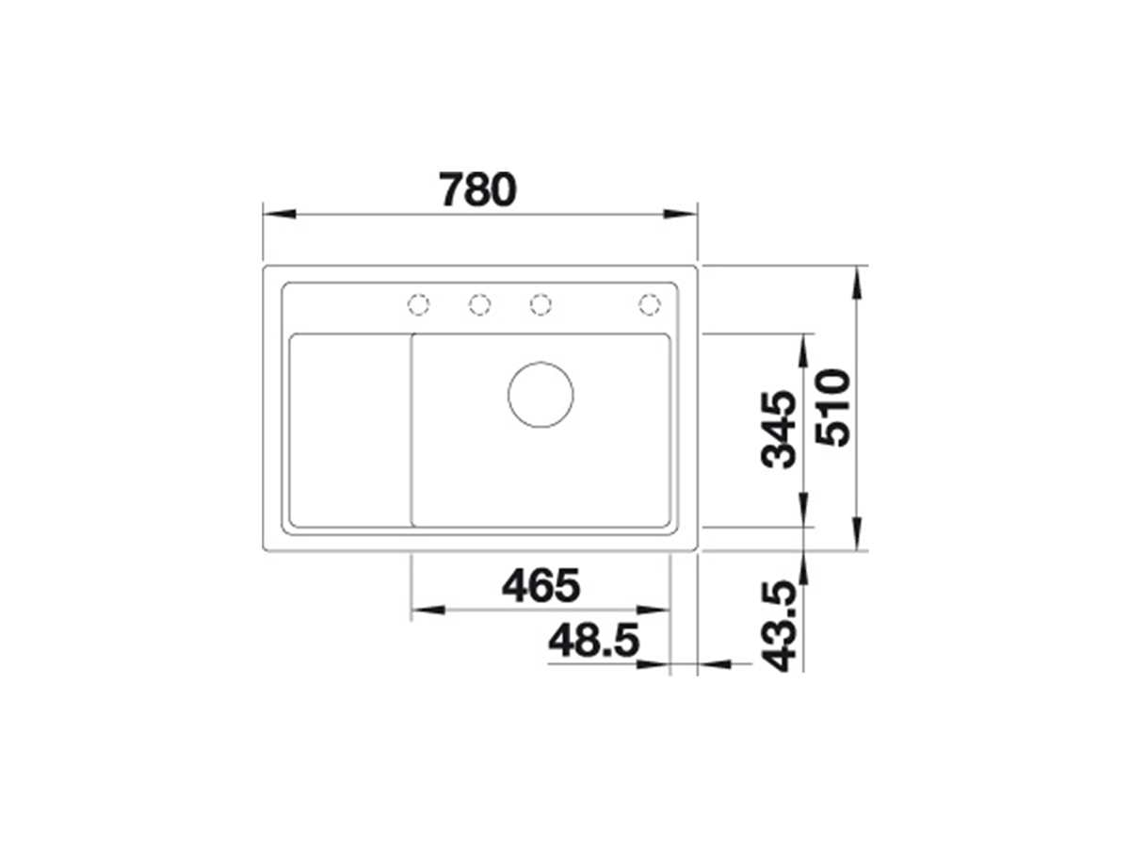 Blanco Zenar XL 6 S Compact Muskat - 523 762 Granitspüle