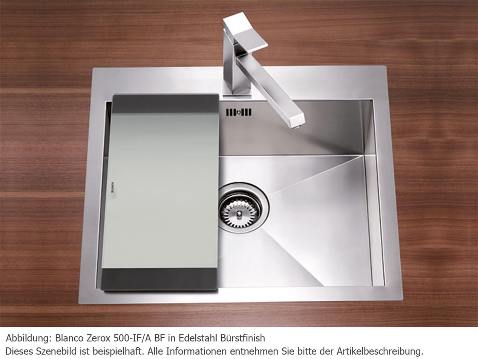 Blanco Zerox 500-IF/A Edelstahlspüle Bürstfinish | {Spülbecken blanco edelstahl 35}