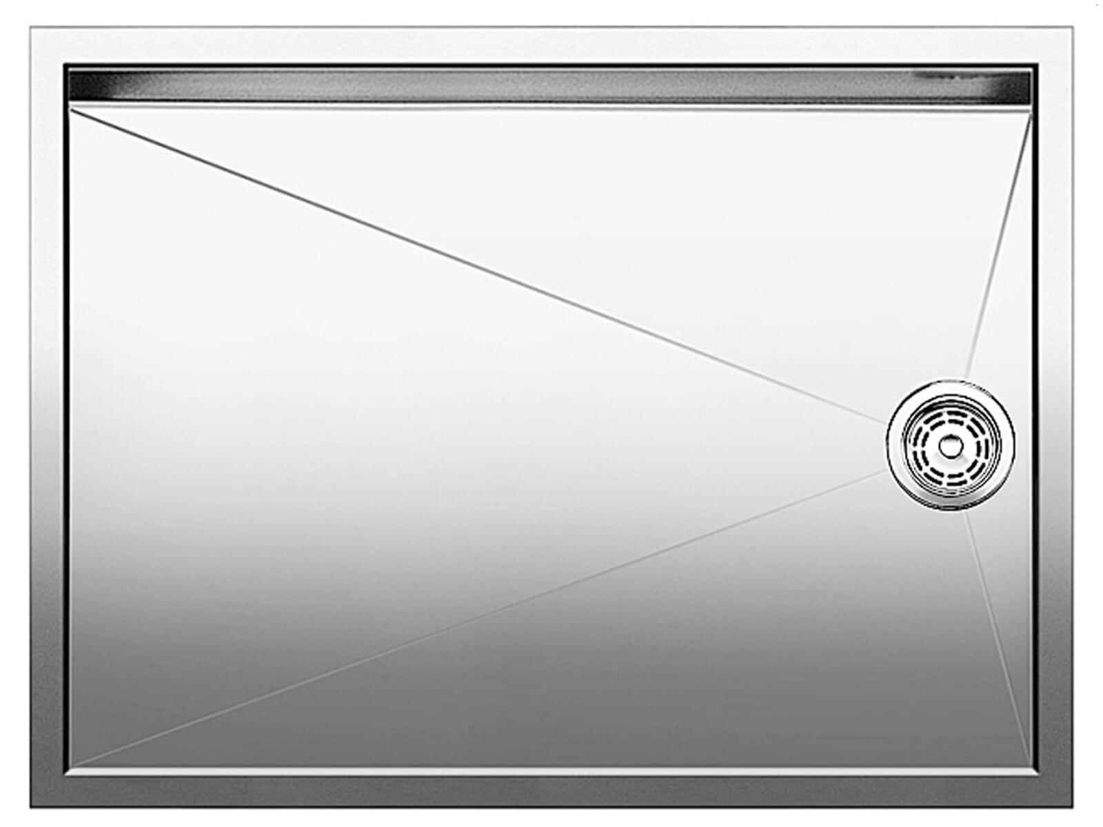 Blanco Zerox 550-T-U Abtropffläche Edelstahl Seidenglanz
