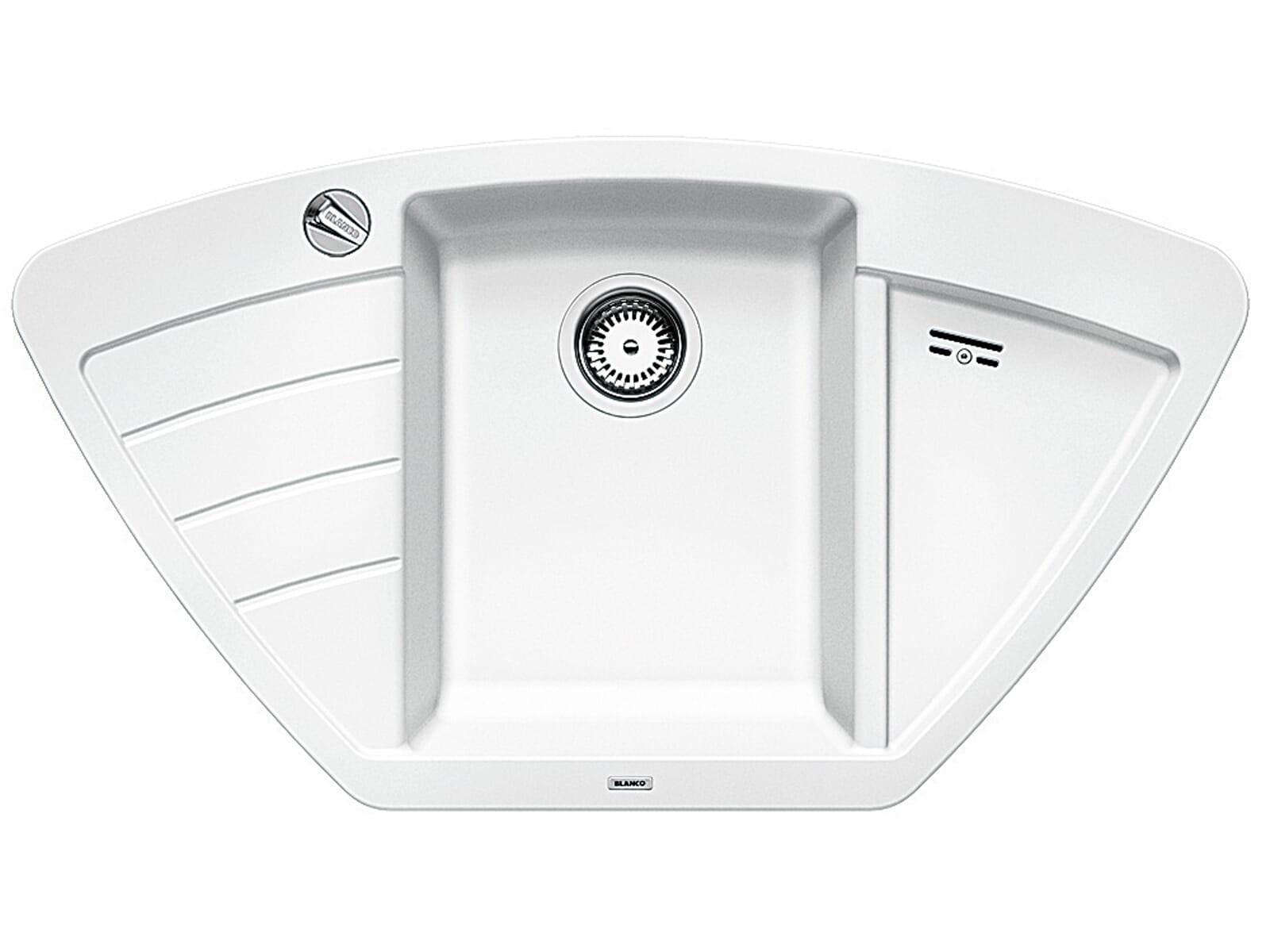 Blanco Zia 9 E Weiß - 514 750 Granitspüle