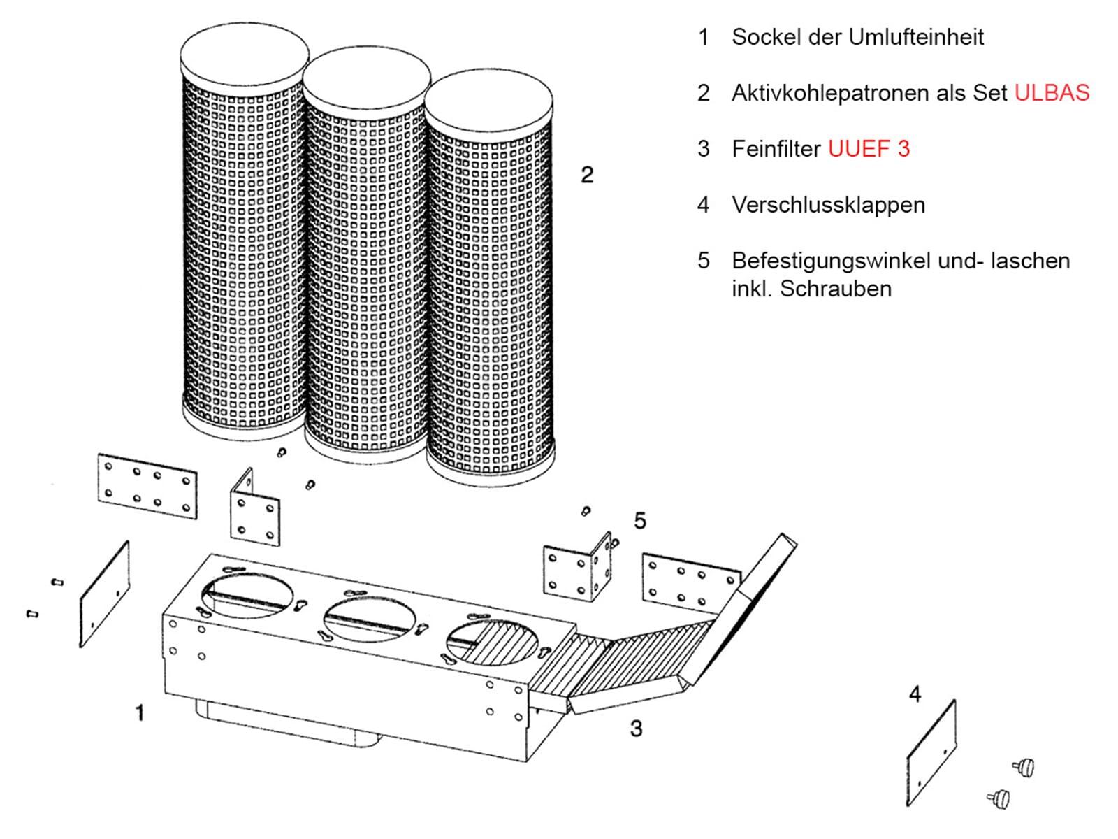 Bora Aktivkohlefilterpatronen-Set UUEAPS 0