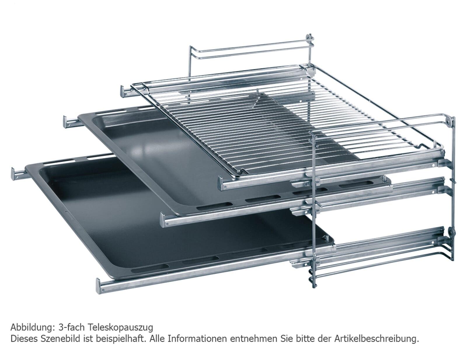 Bosch HRG5184S1 Backofen mit Dampfunterstützung Edelstahl