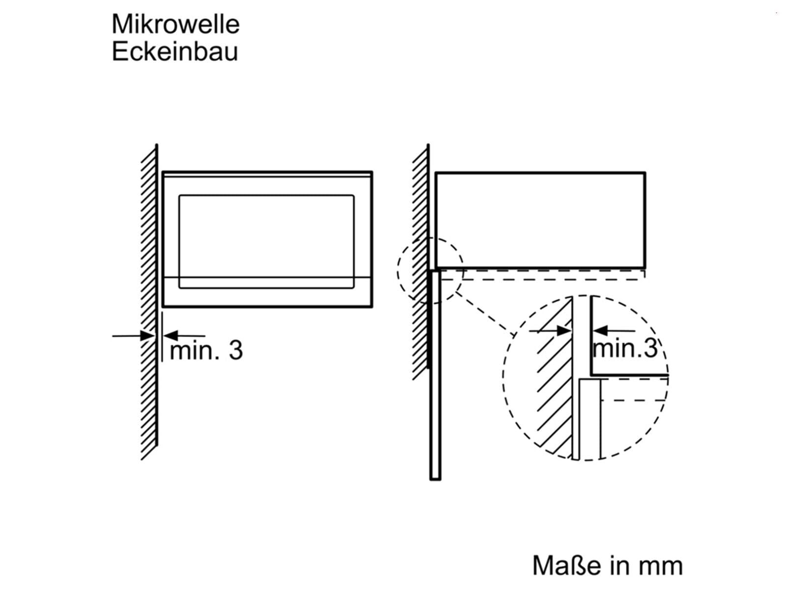 bosch bel554mw0 einbau mikrowelle mit grill polar wei. Black Bedroom Furniture Sets. Home Design Ideas