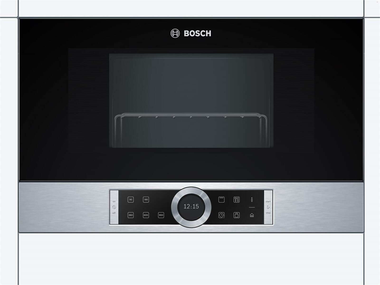 Bosch BEL634GS1 Einbau-Mikrowelle mit Grill Edelstahl